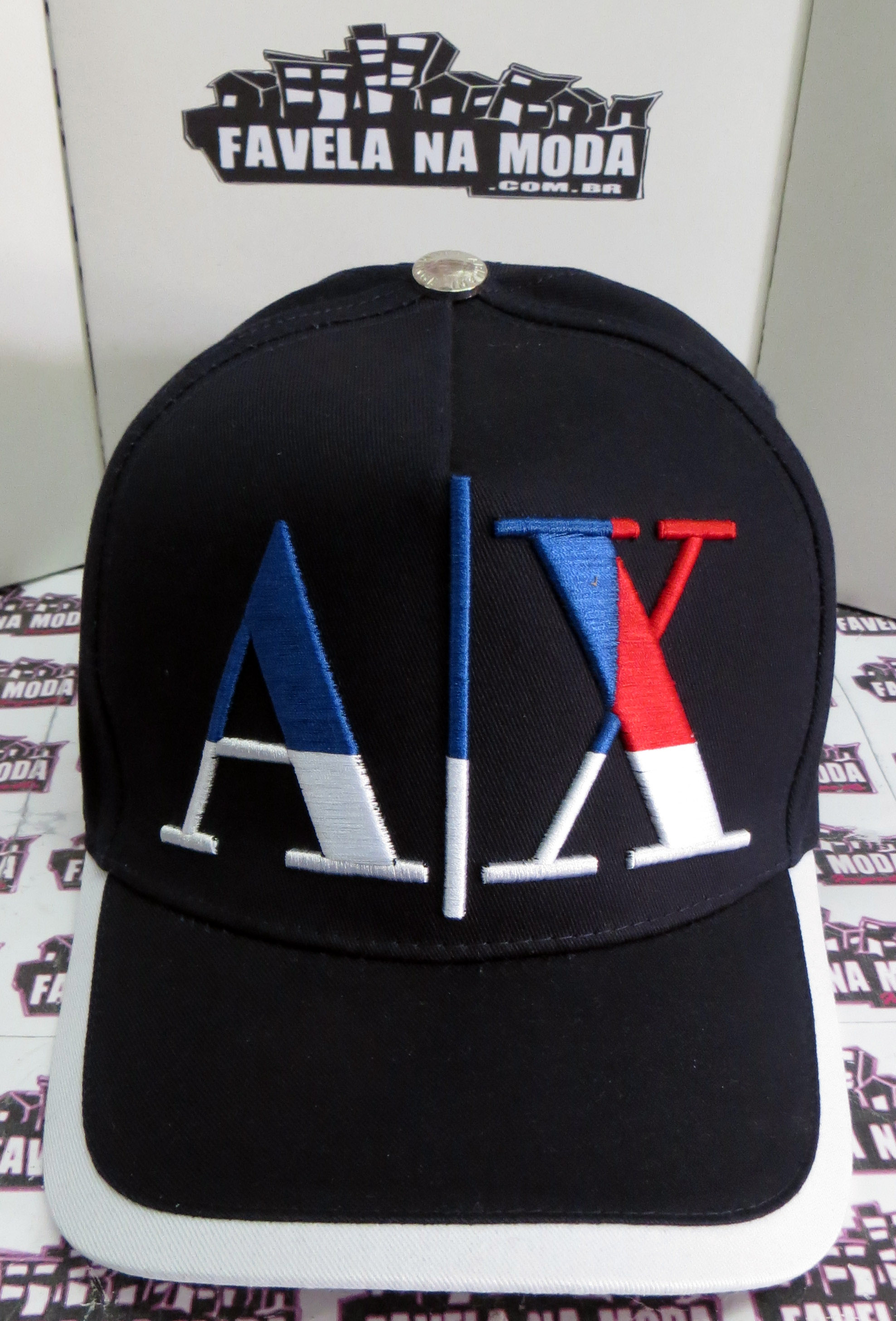 Boné Armani Exchange AX - Azul Marinho - Favela na Moda Imports e051f122b4ce0