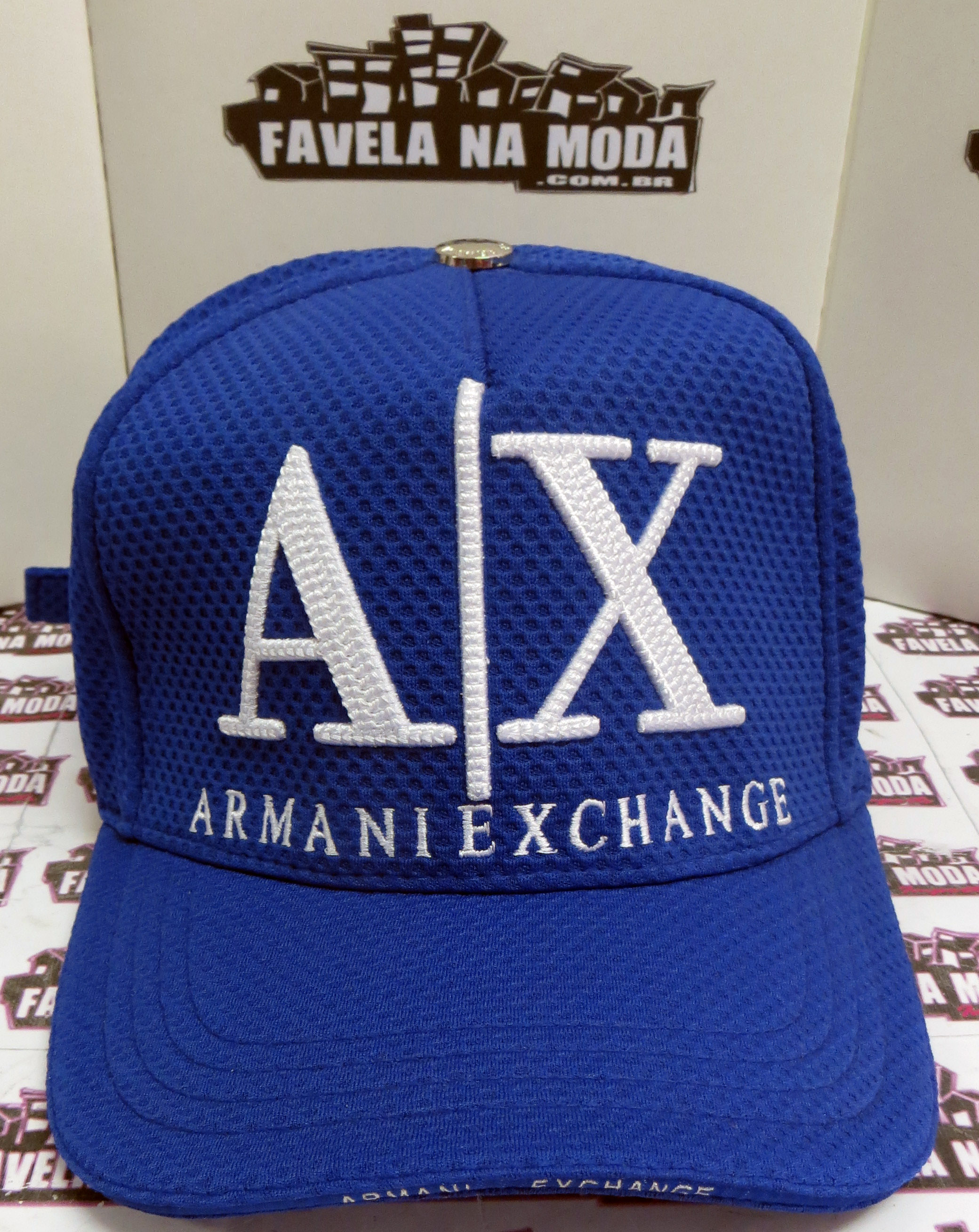 Bonés - Armani Exchange - Favela na Moda Imports 8413a975846a1