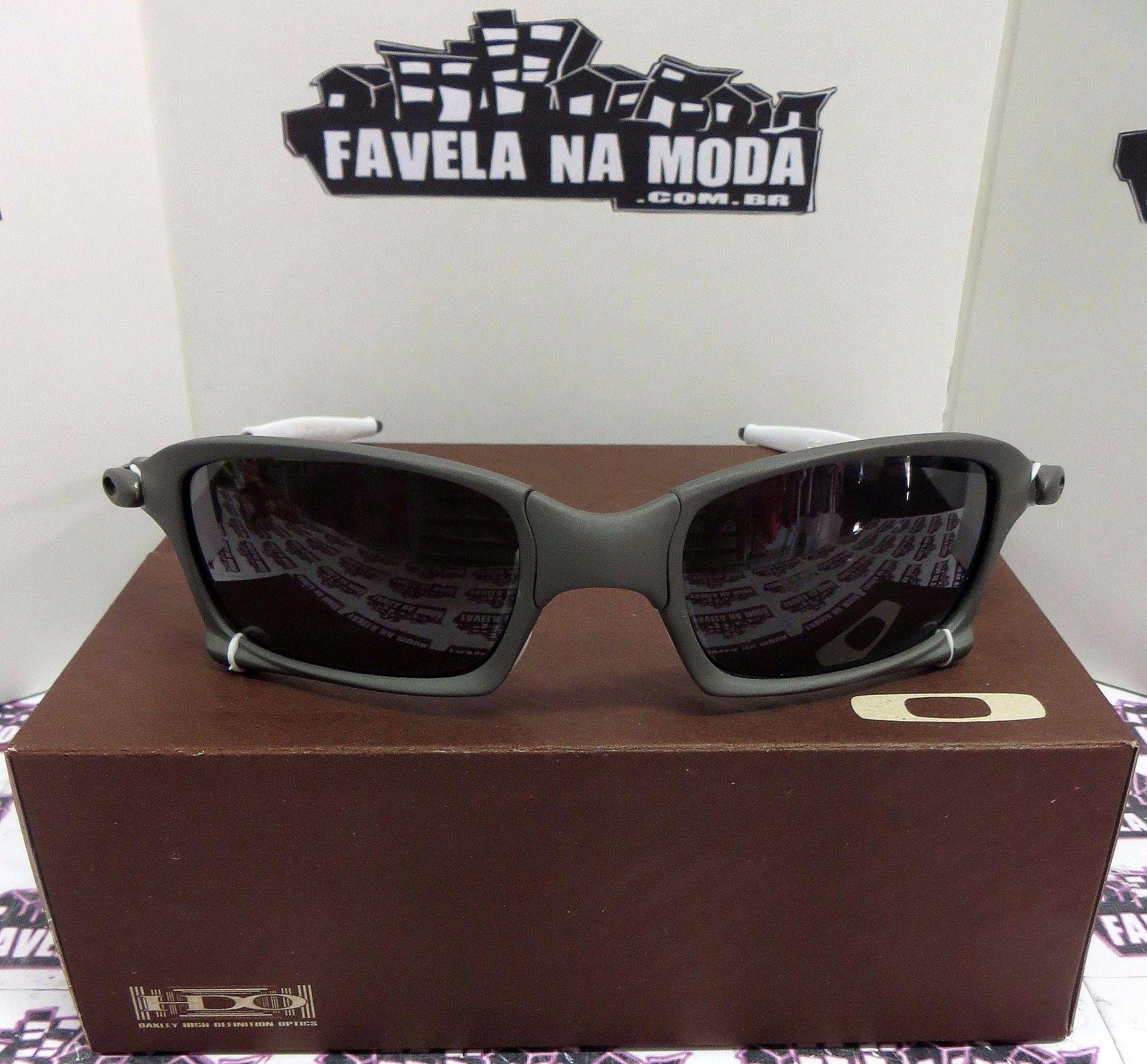 Óculos Oakley X-Squared   X-Metal   Black   Borrachinhas Brancas c16f36011d
