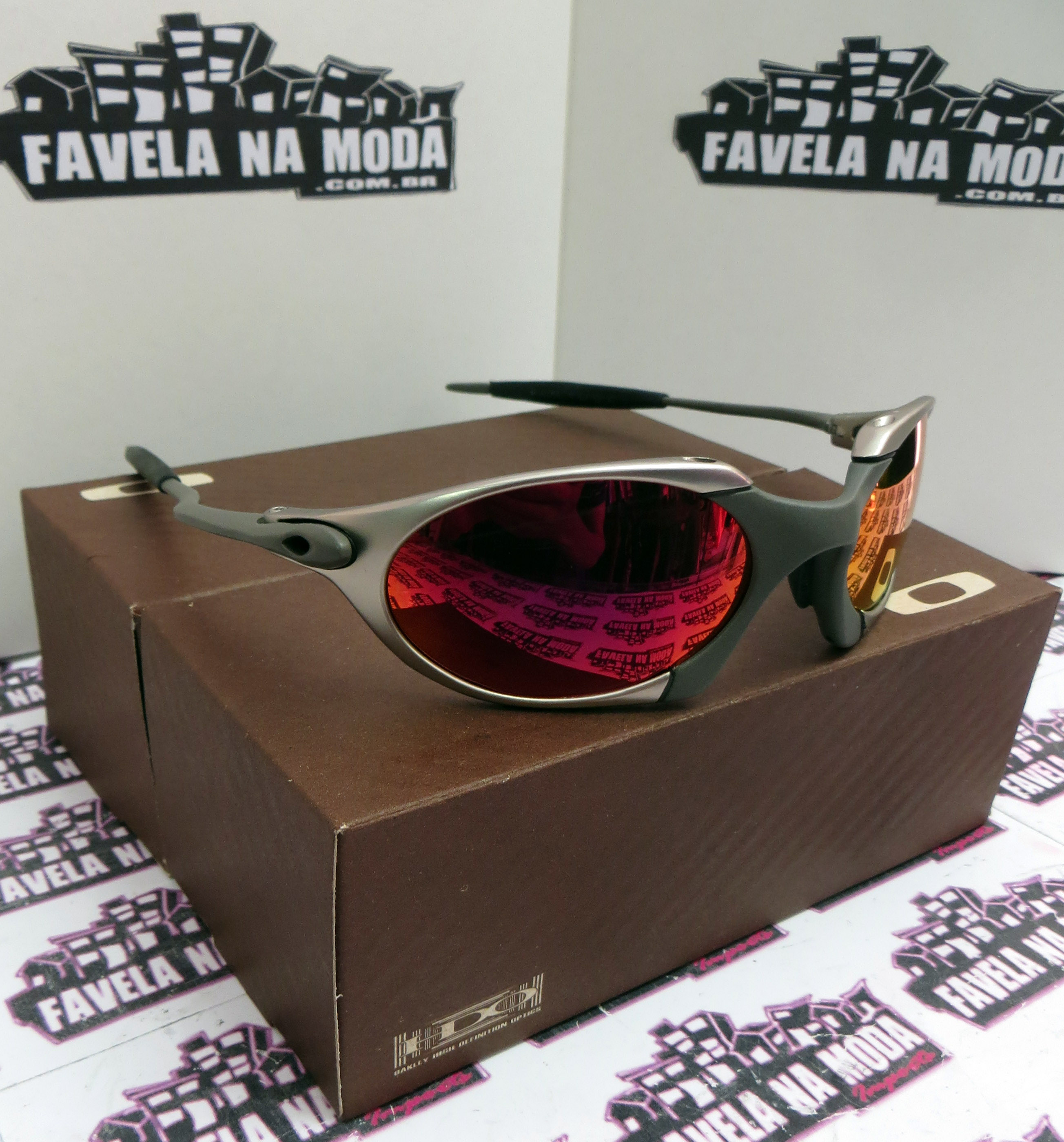 67e5422f9fa03 Óculos Oakley Romeo 1 - Tio 2 - Plasma e X-Metal   Dark Ruby ...