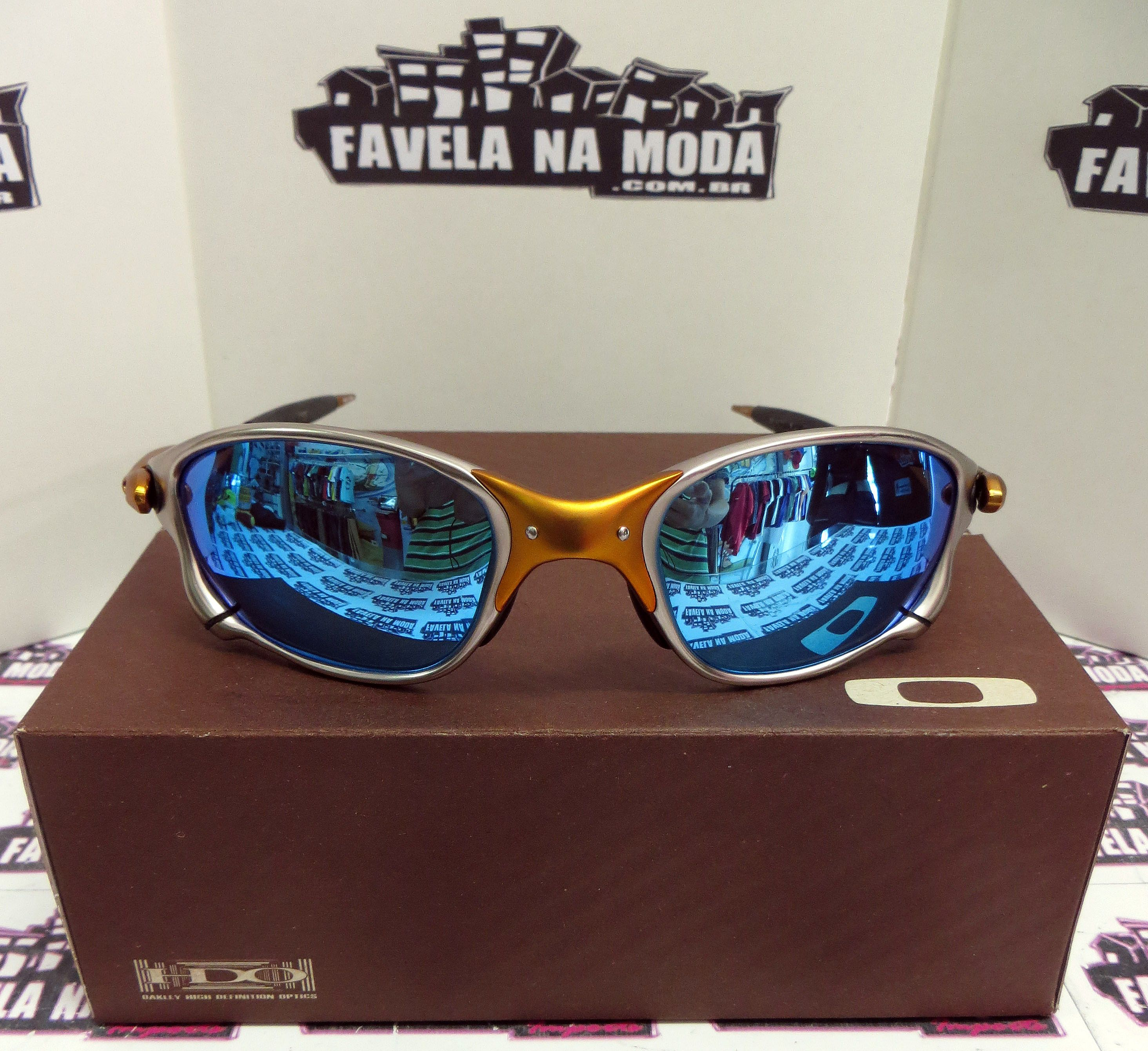 Óculos Oakley Double xx - 24k   Ice Thug   Borrachinhas Pretas - Favela na  Moda Imports ad856f17b066e