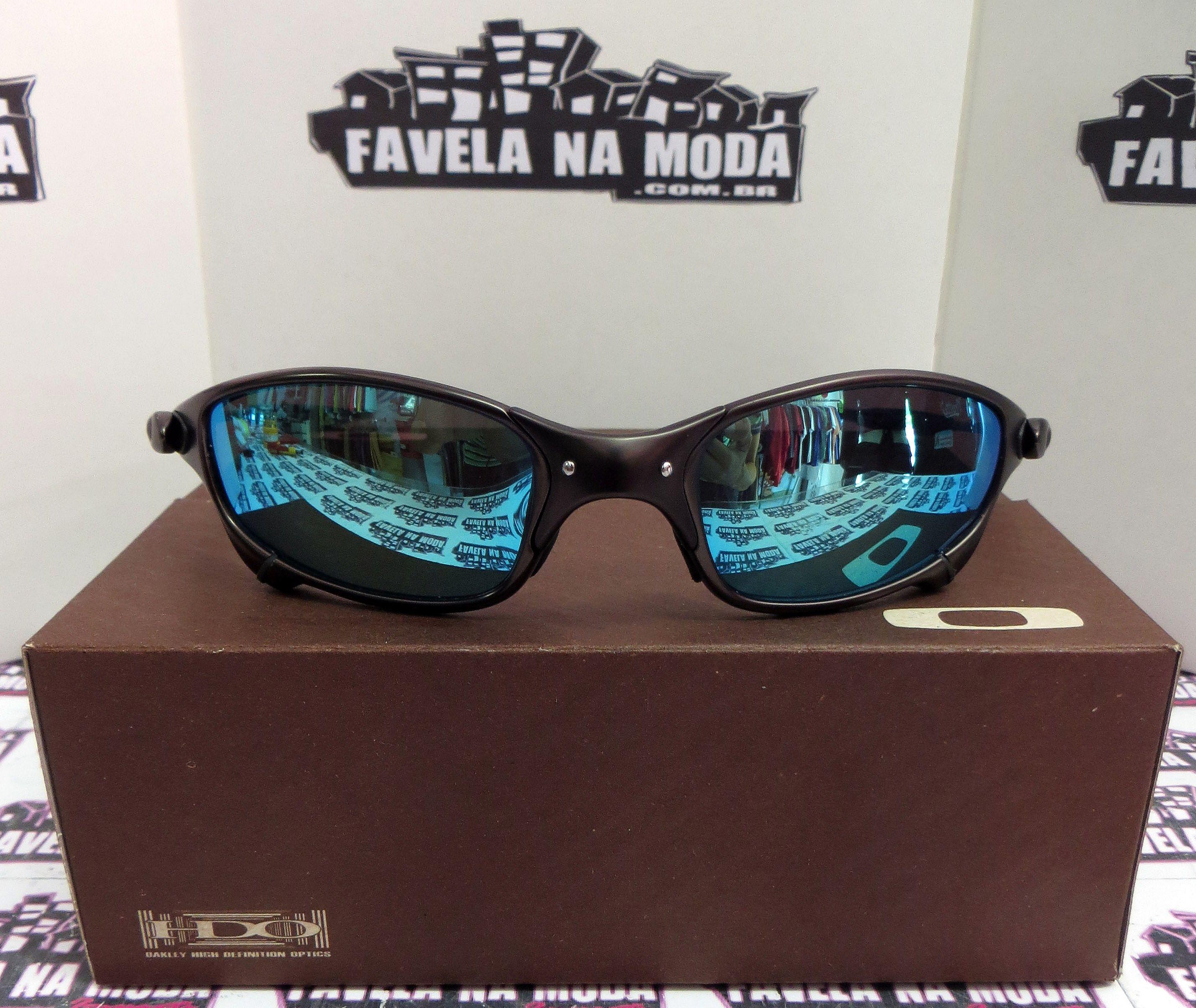 284cb0f55 Óculos Oakley Juliet - Carbon / Ice Thug / Borrachinhas Pretas