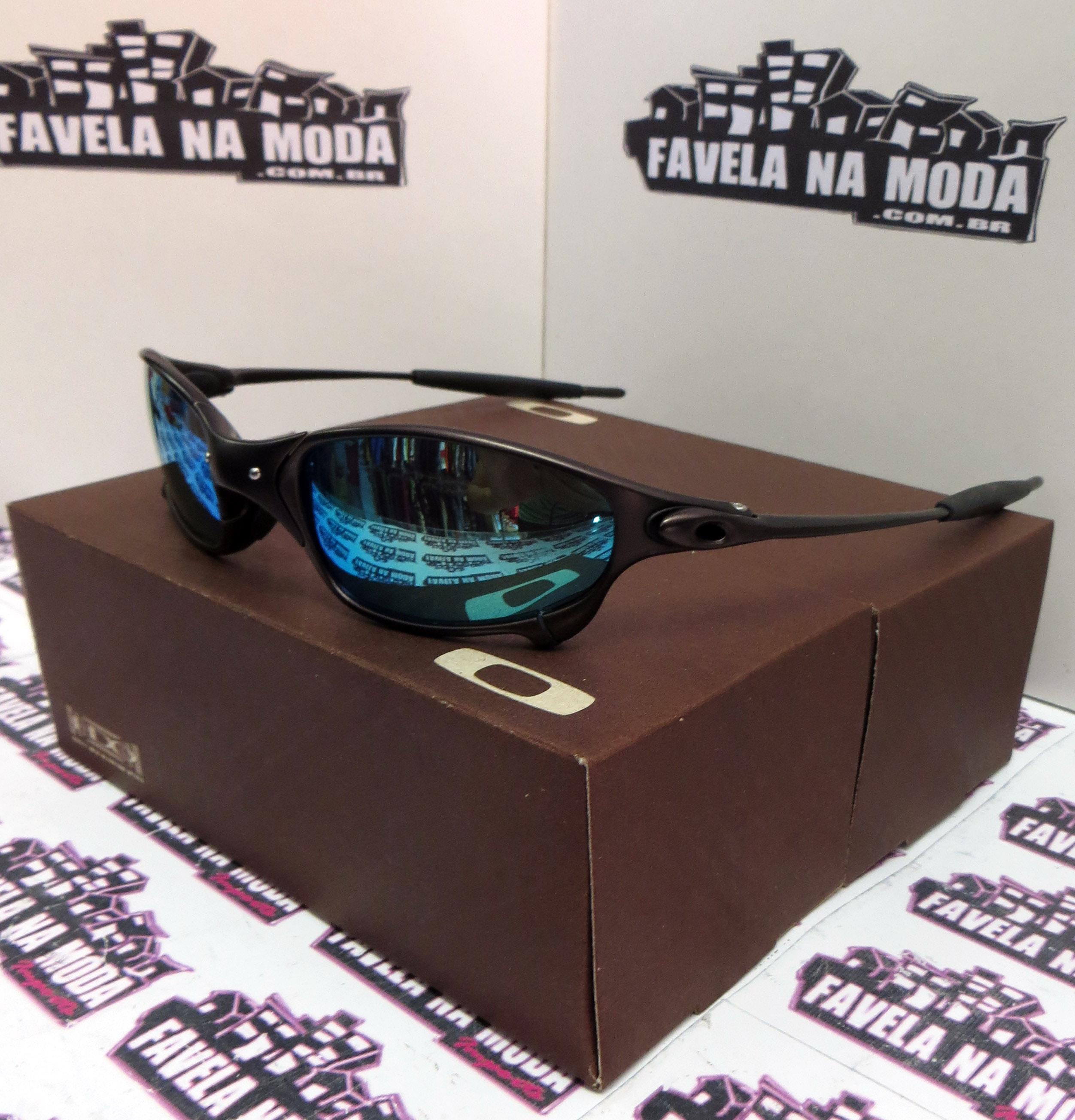 ac79ccd70bc53 Óculos Oakley Juliet - Carbon   Ice Thug   Borrachinhas Pretas ...