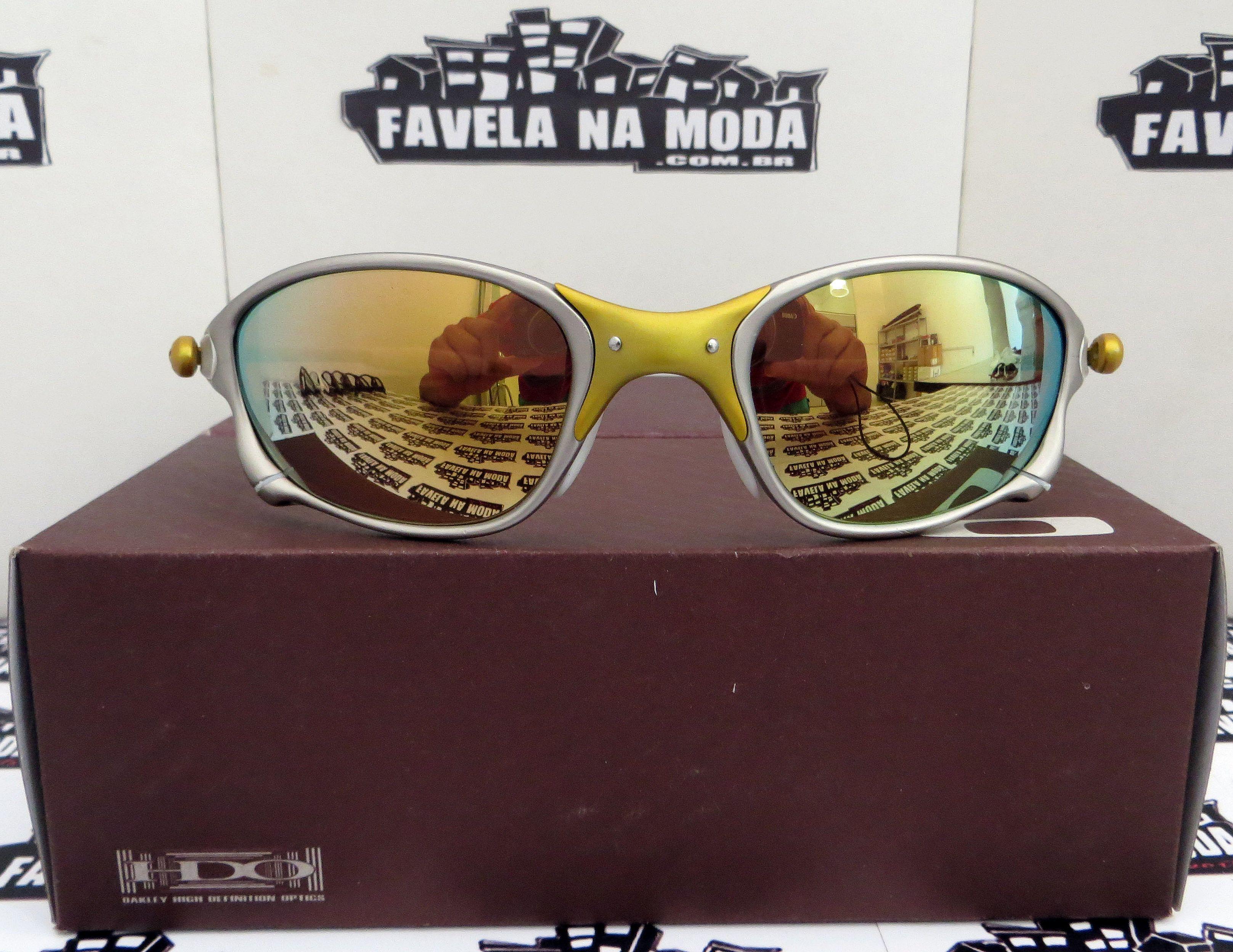 30e6d95a81a86 Óculos Oakley Double xx - 24k   Gold   Borrachas Brancas