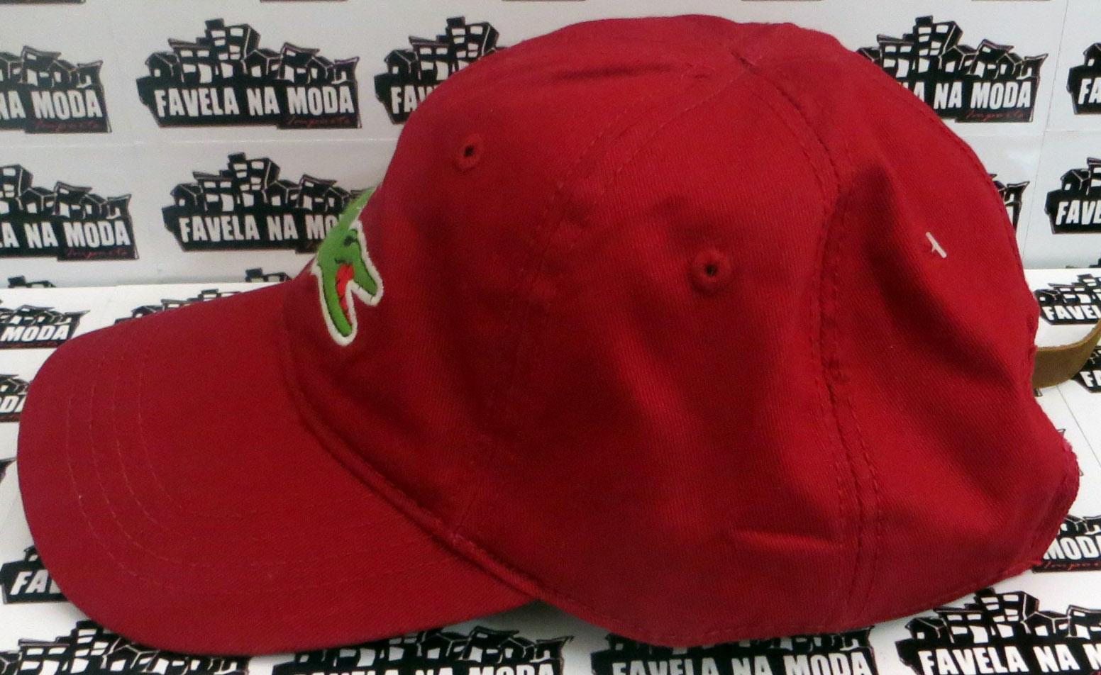 Boné Lacoste de Fivela de Couro - Vinho - Big Croc - Favela na Moda ... 6a818d3a7bc