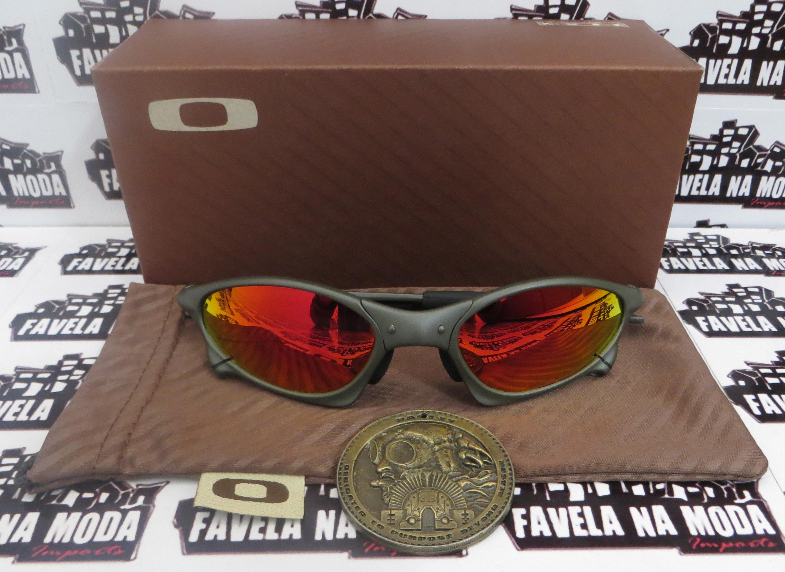 1ab721f018d03 Óculos Oakley Penny - X-metal   Dark Ruby   Borrachas Pretas ...