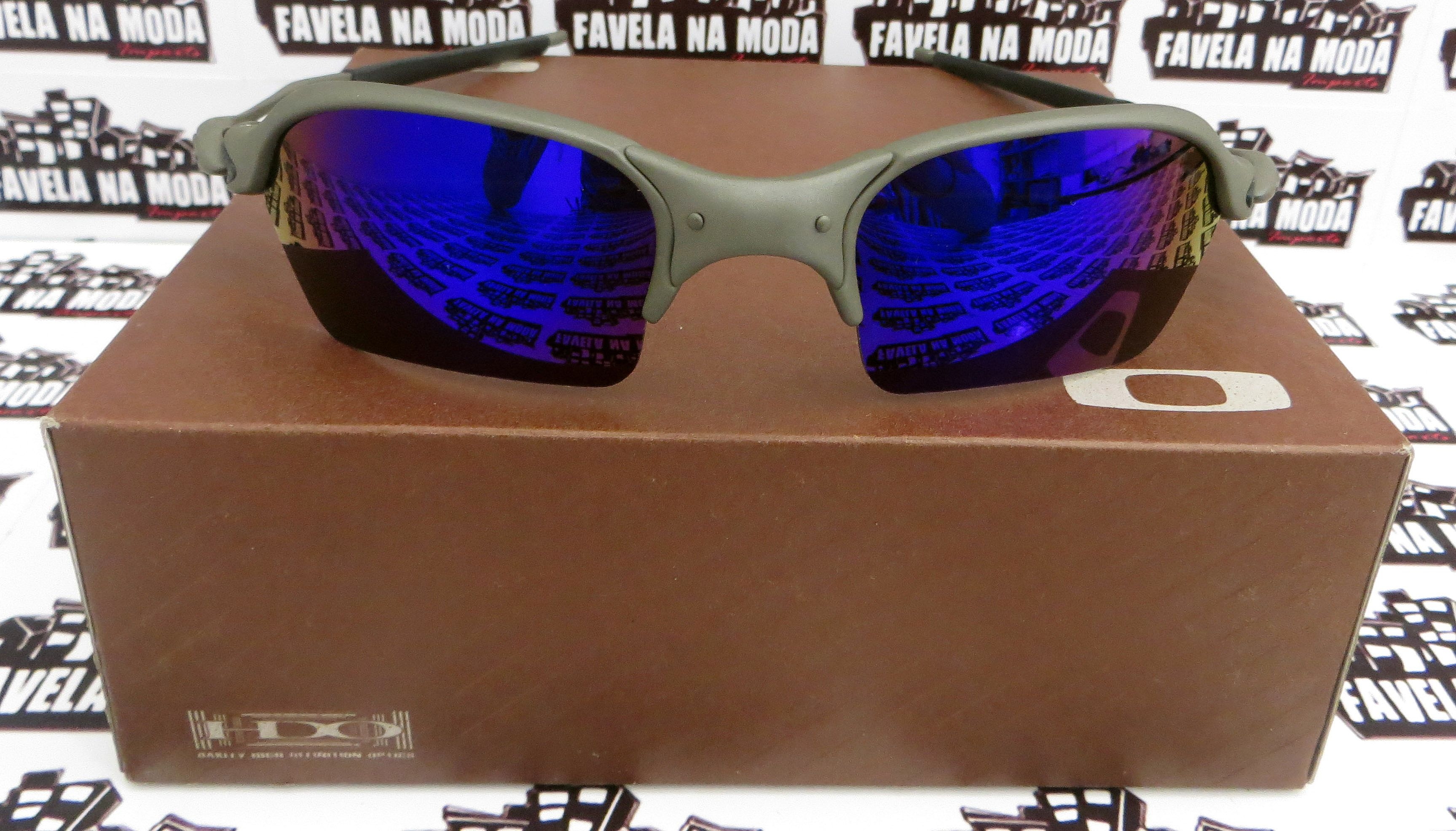 Óculos Oakley Romeo 2 - X-Metal   Magic Blue  Borrachas Pretas e473e72a57