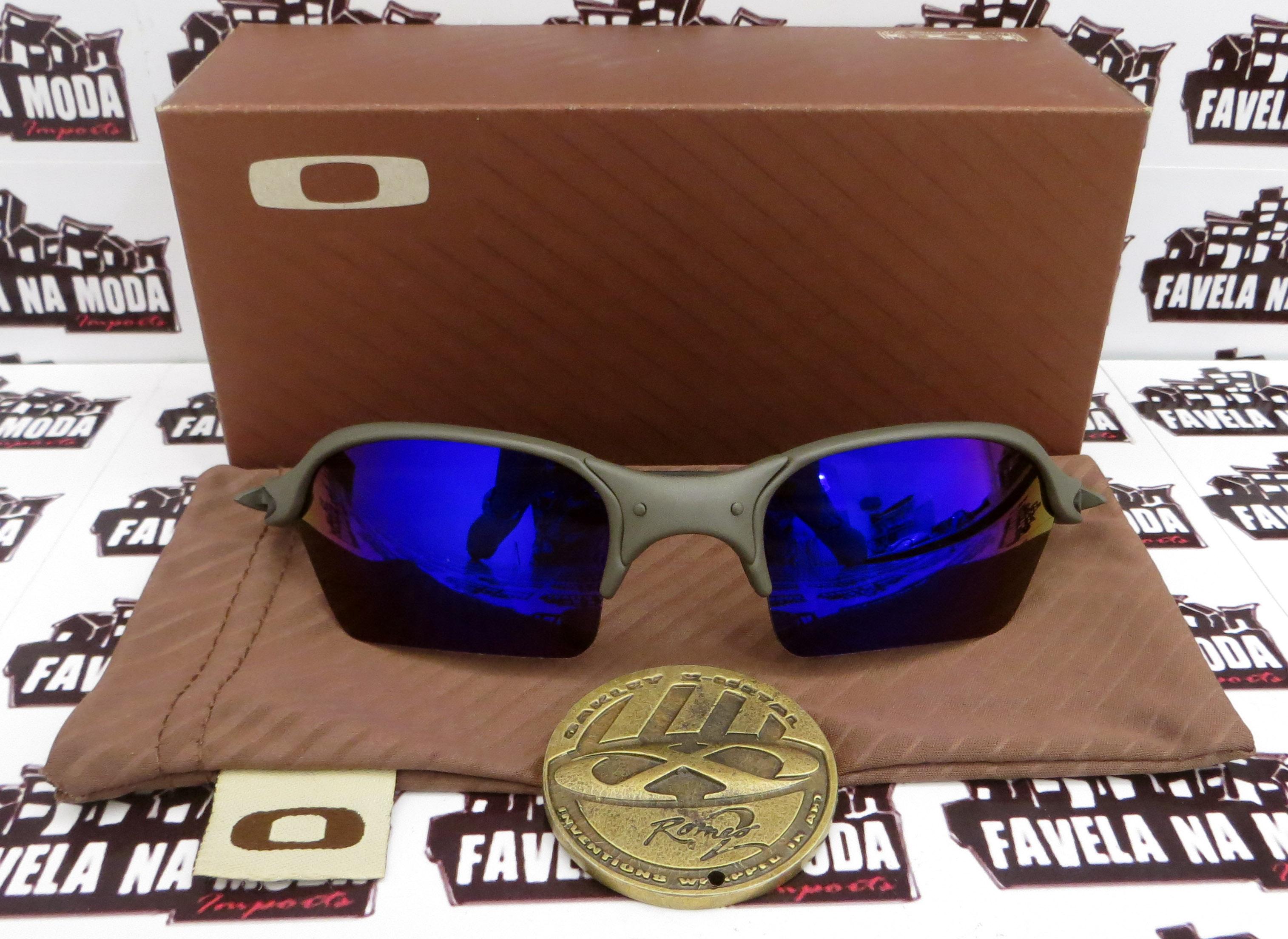 9b6523c1015c1 Óculos Oakley Romeo 2 - X-Metal   Magic Blue  Borrachas Pretas ...