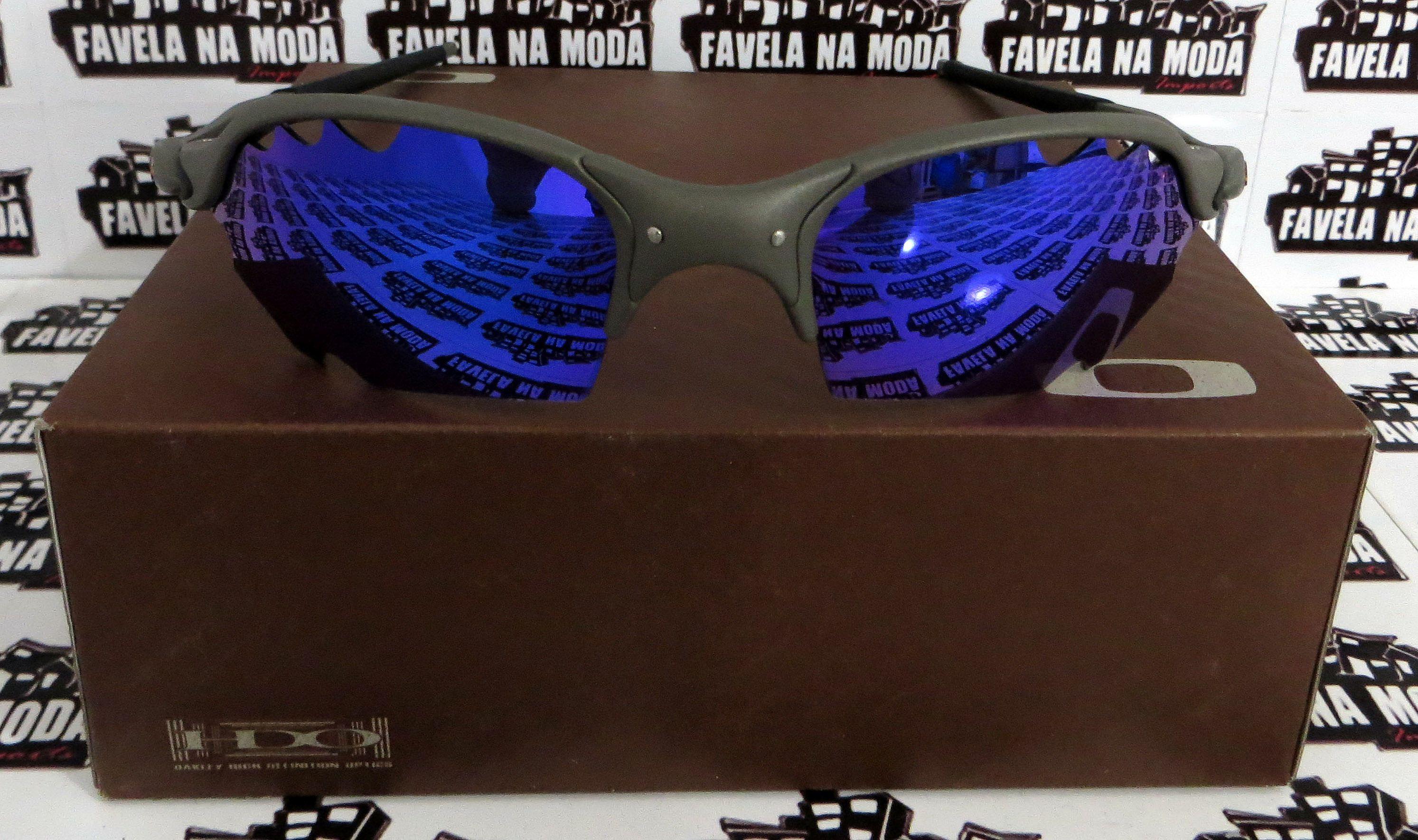 cad3432cae96d Óculos Oakley Romeo 2 - X-Metal   Blue Neon (Parriot)