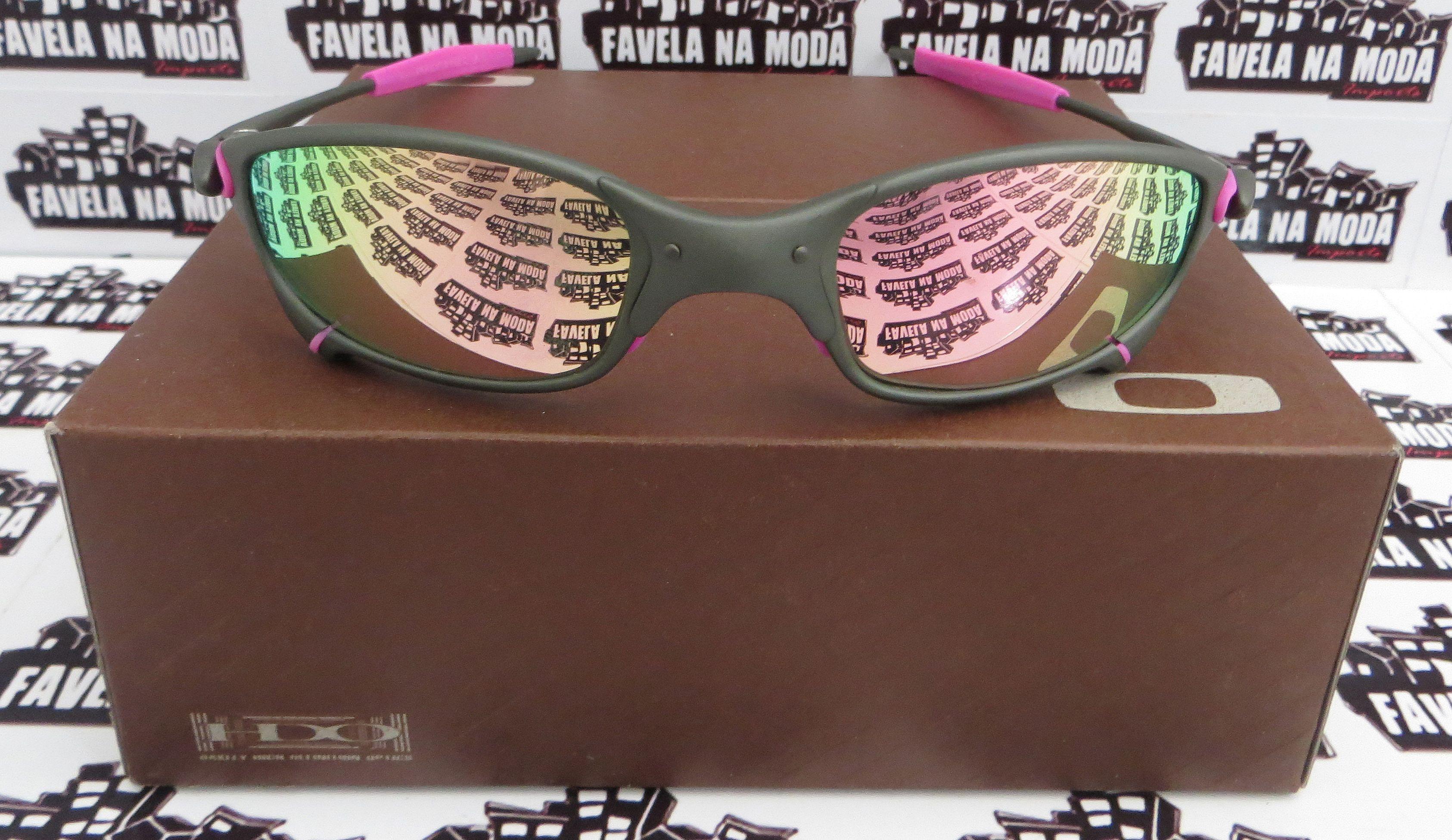38c19a8000f92 Óculos Oakley Juliet - X-Metal   Pink   Borrachas Rosa