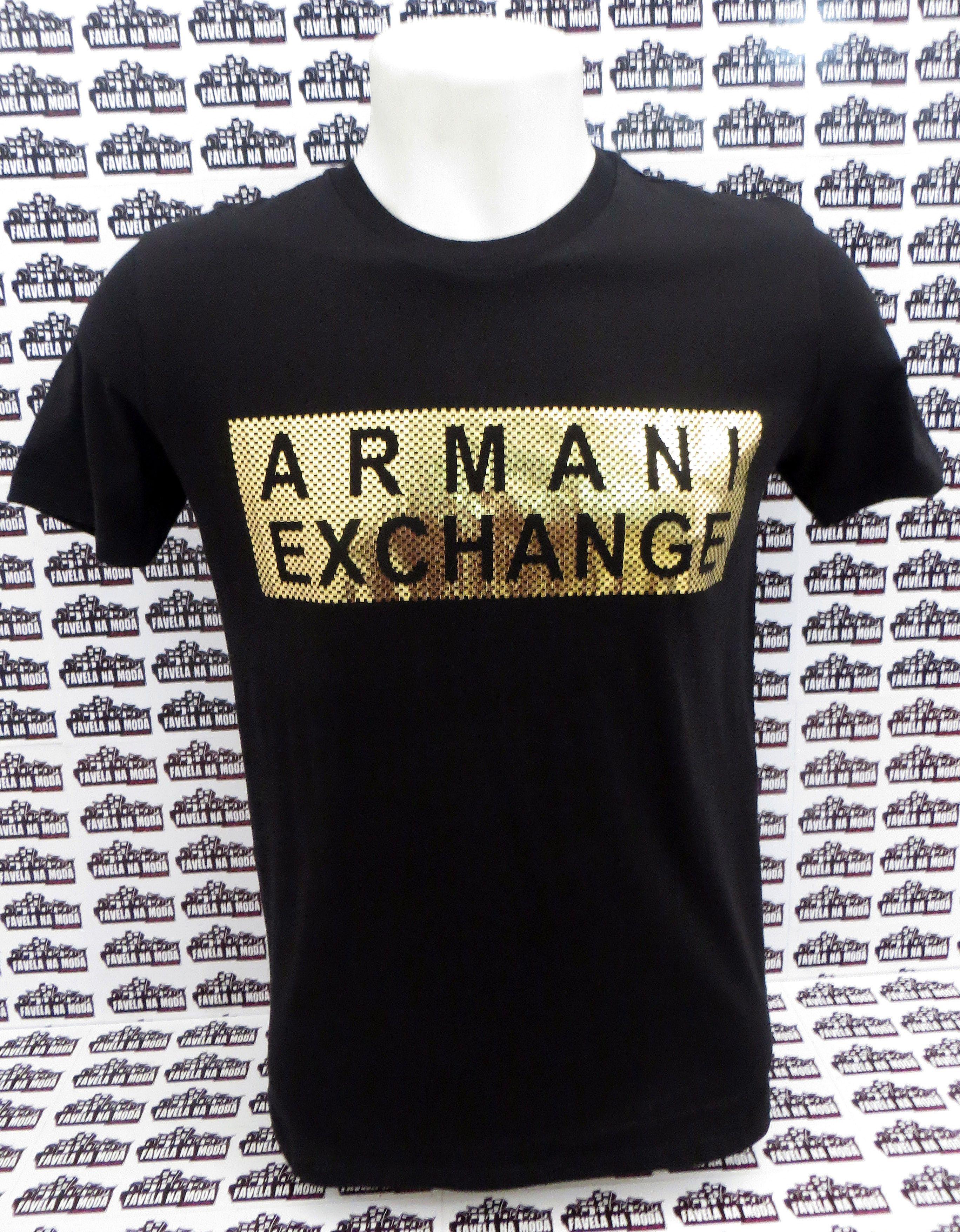 Camiseta Armani Exchange (M) - Favela na Moda Imports c75c4da1c4c
