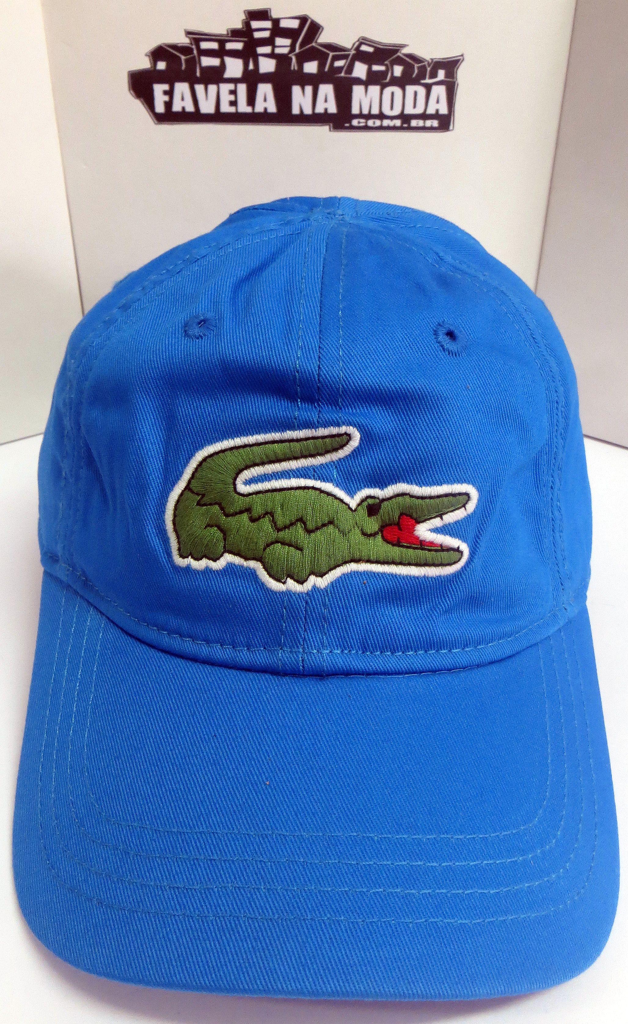 f521b7dbea64f Boné Lacoste de Fivela de Couro - Azul Royal - Big Croc
