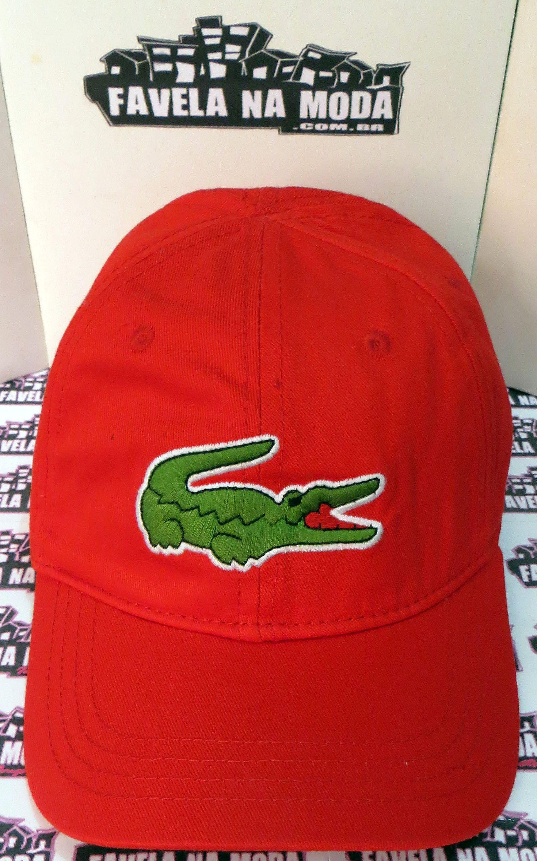 fa79b72d36795 Boné Lacoste de Fivela de Couro - Vermelho - Big Croc