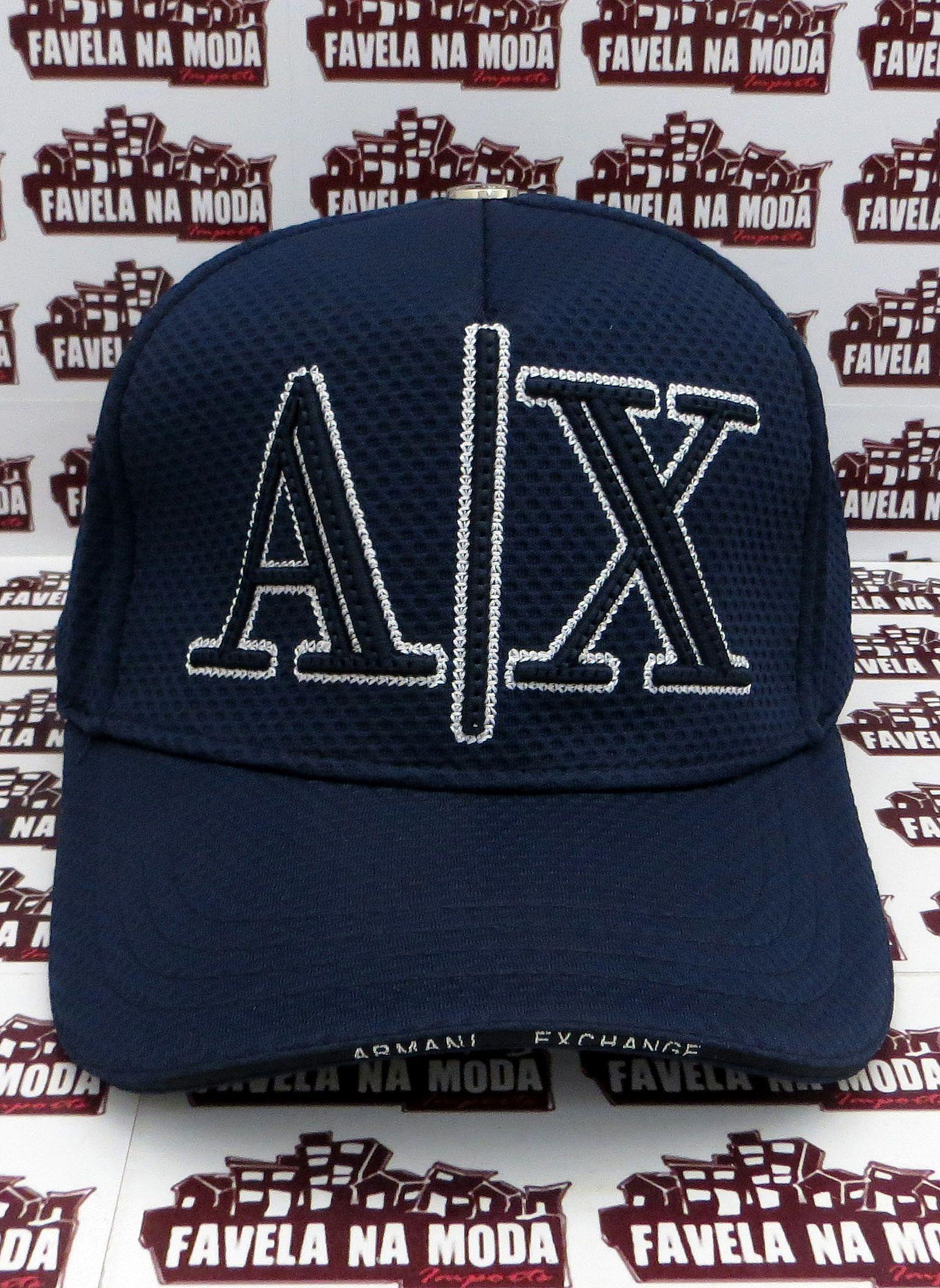 ac1bb7396c4b9 Boné Armani Exchange AX - Azul Marinho