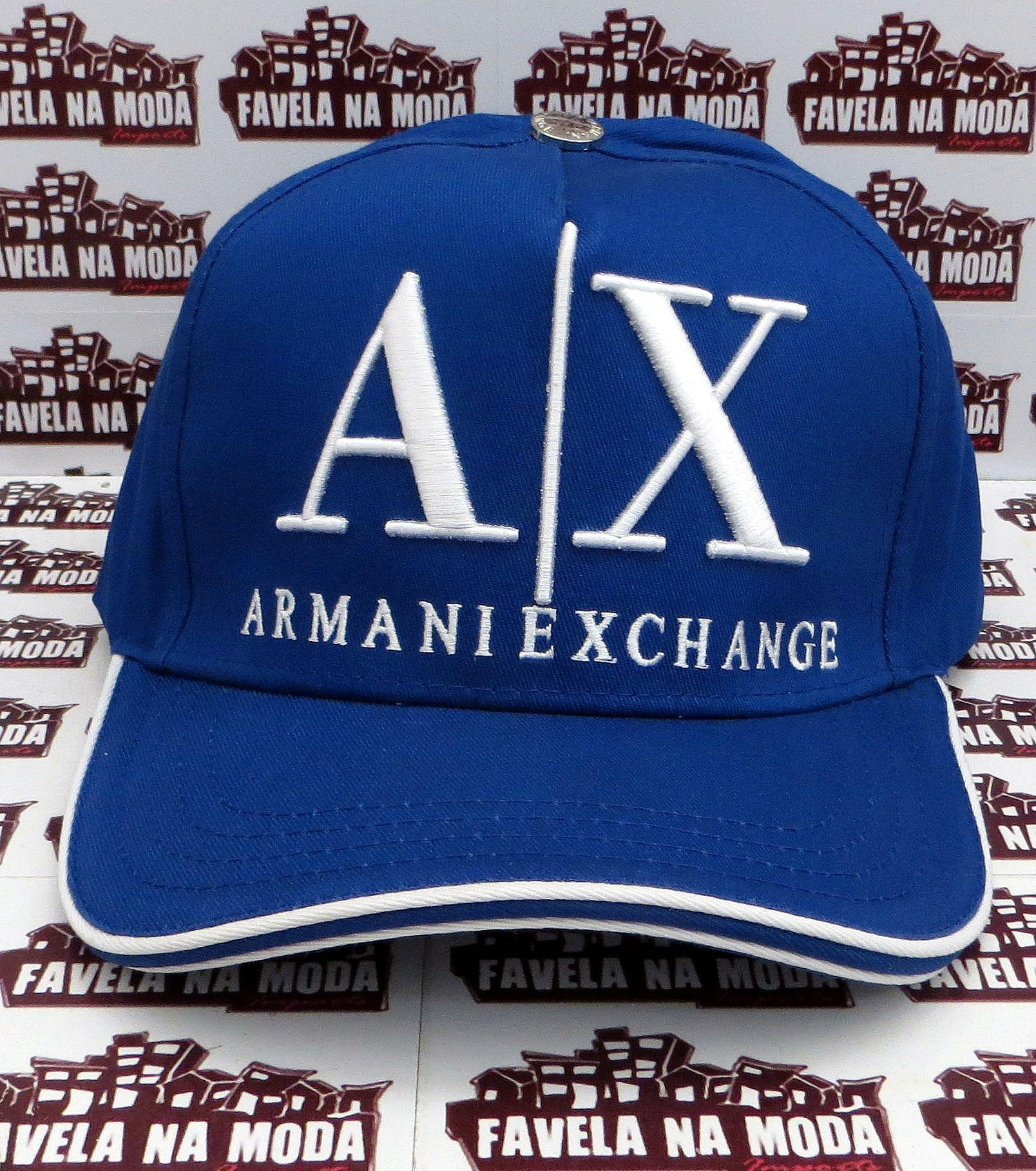 e840a59e30624 Boné Armani Exchange AX - Azul Royal