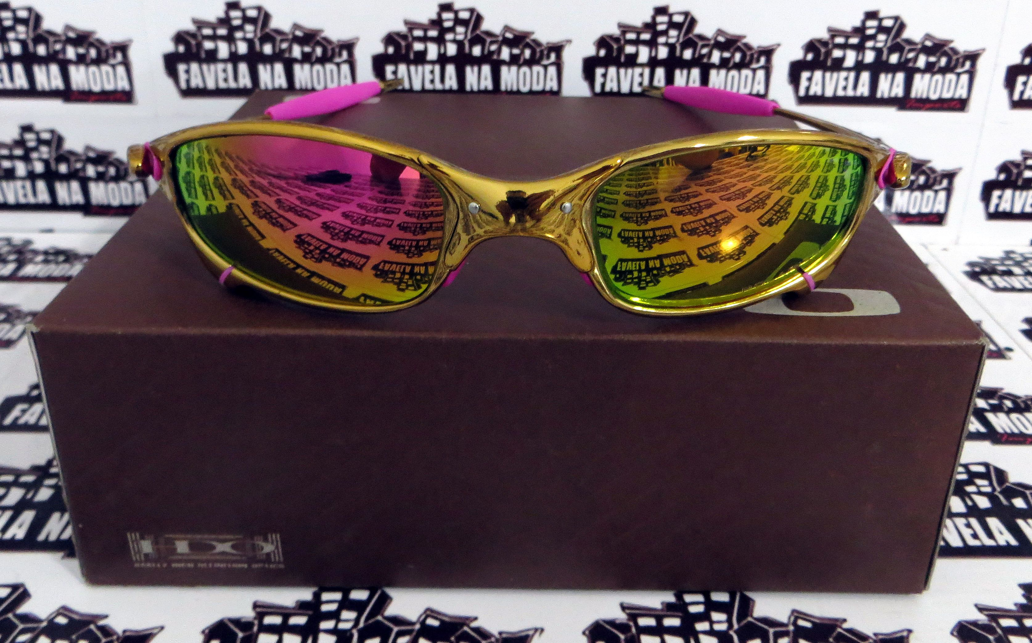 10edae6c0e616 Óculos Oakley Juliet - Gold   Pink   Borrachas Rosa