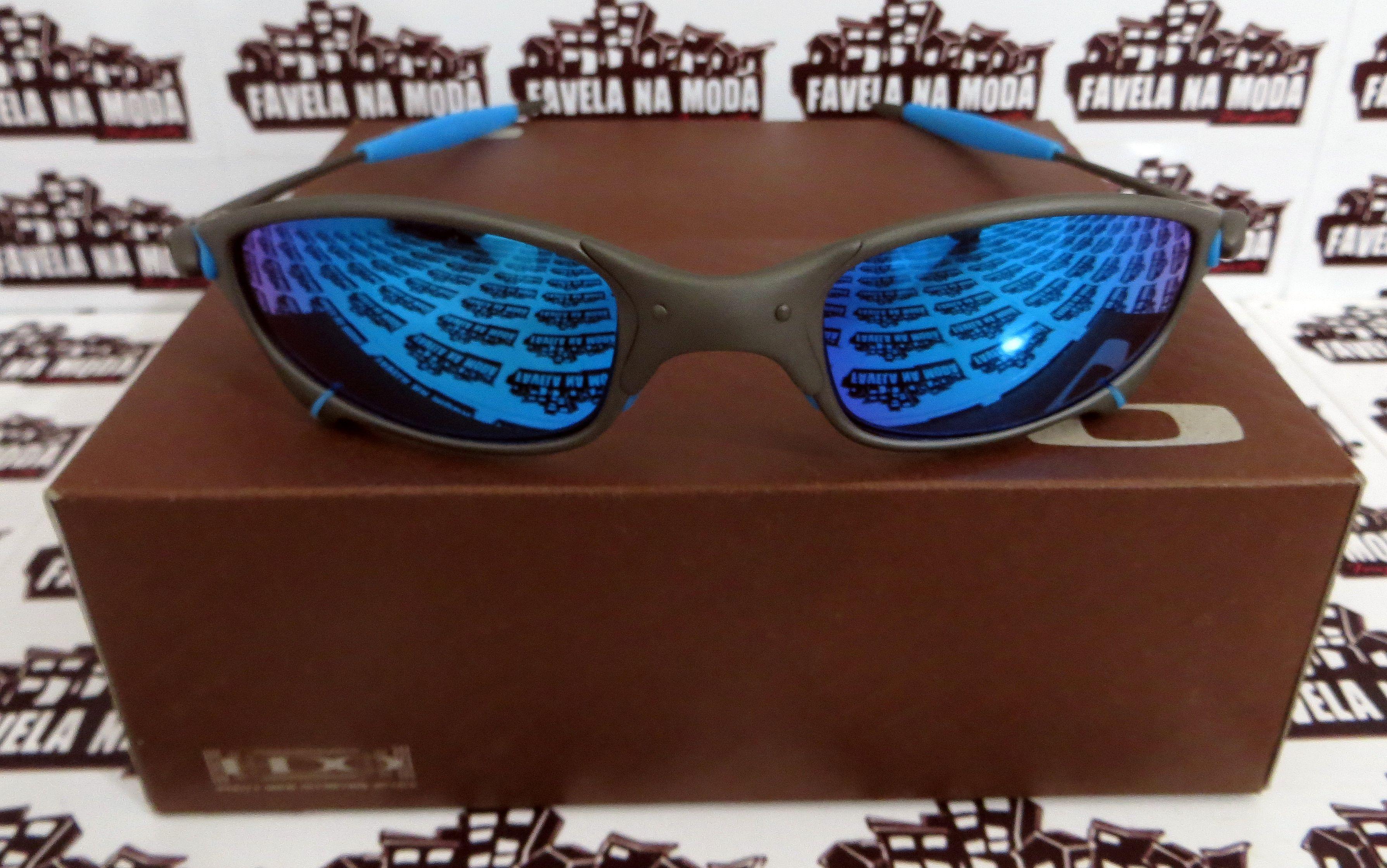 002f65ca5 Óculos Oakley Juliet - X-Metal - Ice Thug - Borrachas Azul Bebê