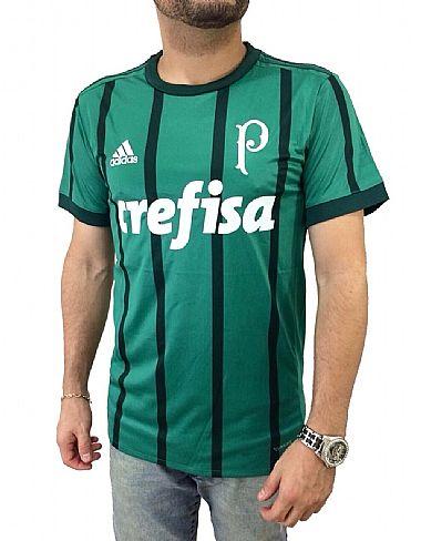 3d4bb82329 Camisa Palmeiras I 17 18 s nº Torcedor Adidas Masculina - Verde - Favela na Moda  Imports