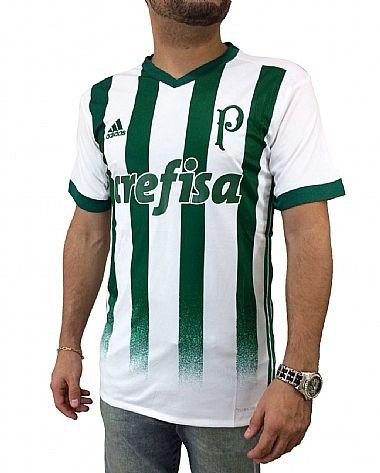 fdb75b6dcd Camisa Palmeiras II 17 18 s nº Torcedor Adidas Masculina - Branco e Ve