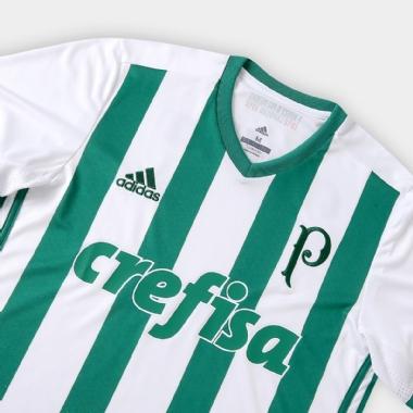 c955395585 Camisa Palmeiras II 17 18 s nº Torcedor Adidas Masculina - Branco e ...