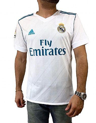 3c2d42813e Camisa Real Madrid Home 17 18 - Torcedor Adidas Masculina - Branco e A