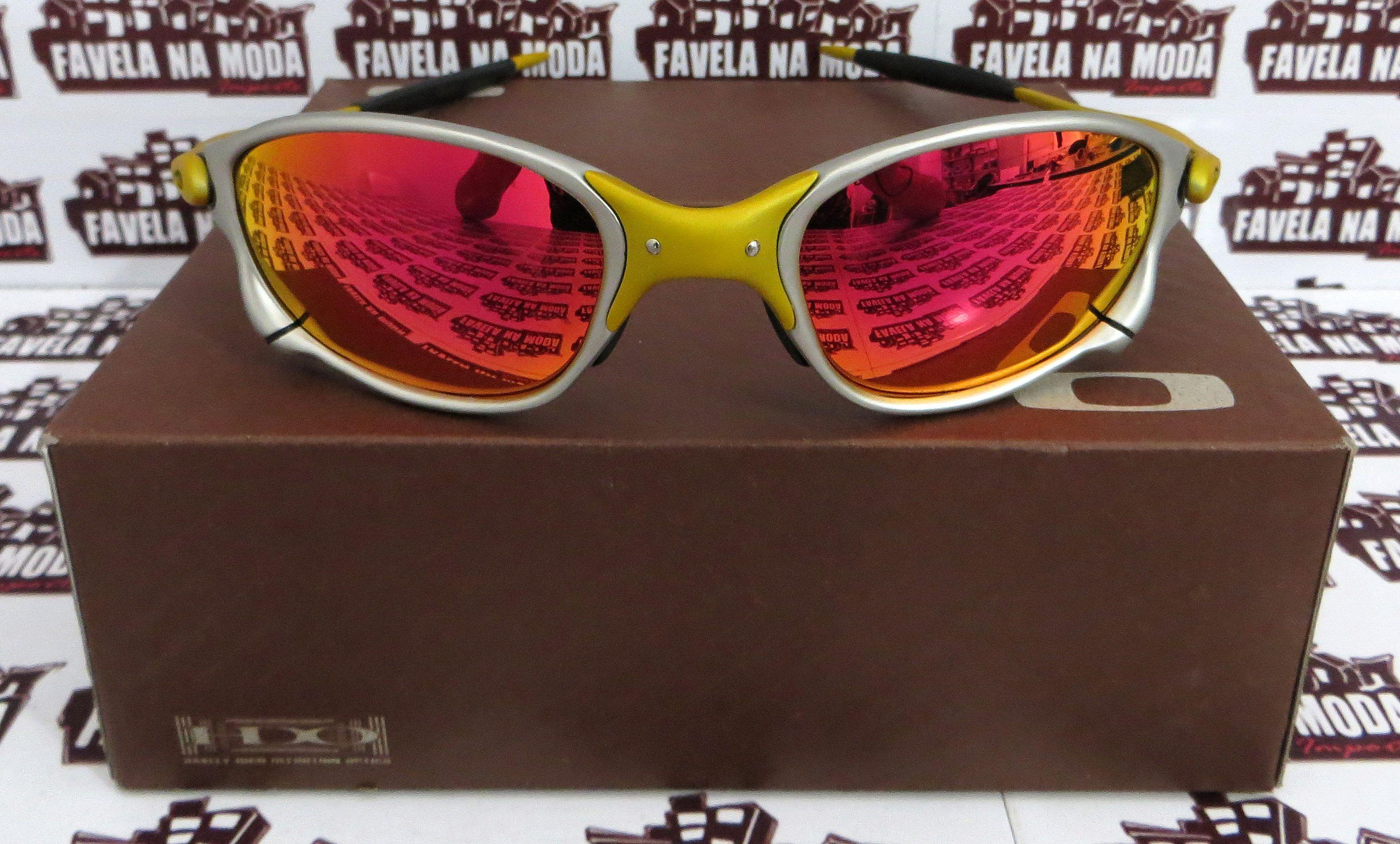 785d07c89e55f Óculos Oakley Double xx - 24k   Dark Ruby   Borrachas Pretas