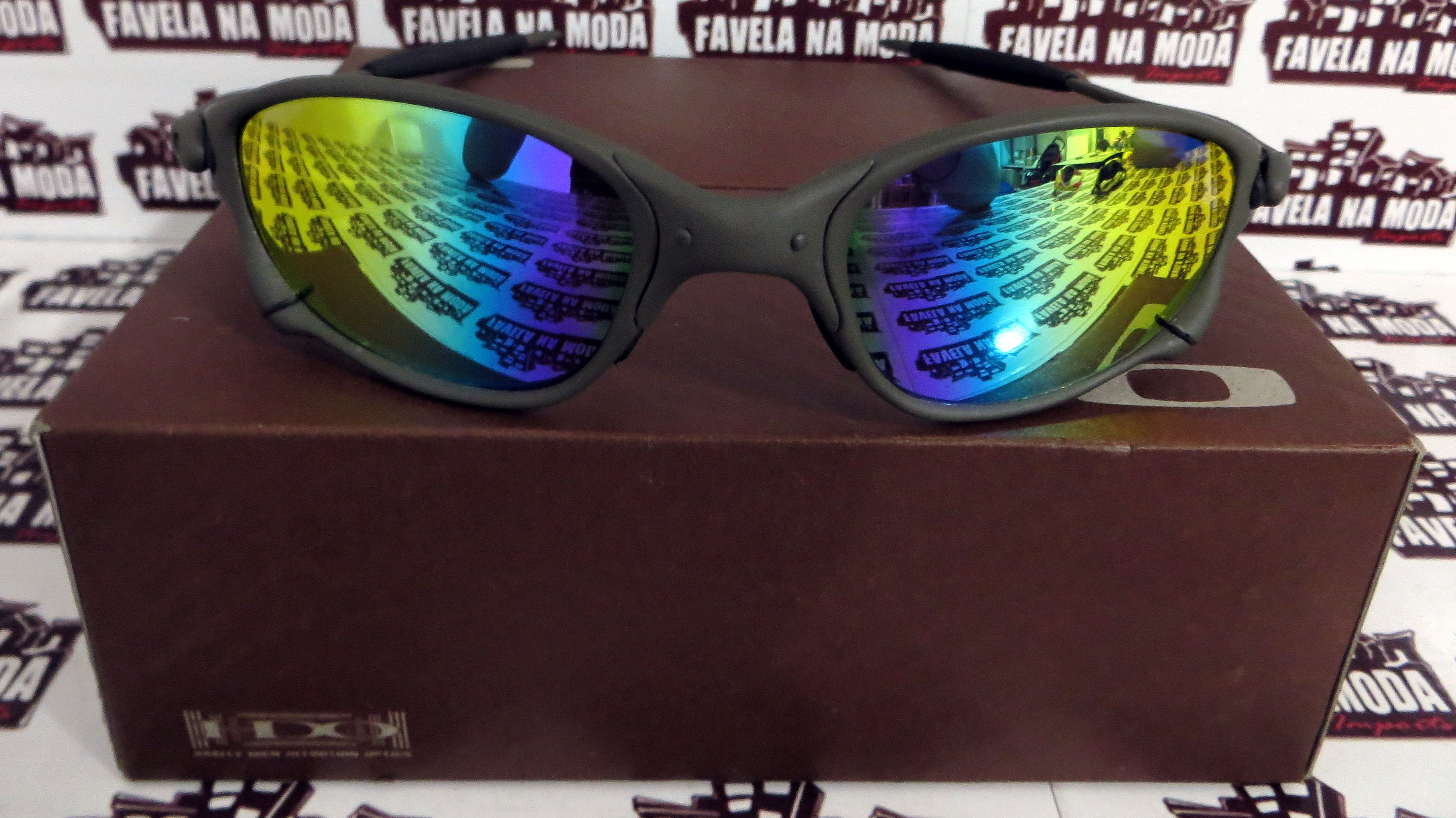 44873a116 Óculos Oakley Double xx / X-Metal / Arco Íris / Borrachas Pretas