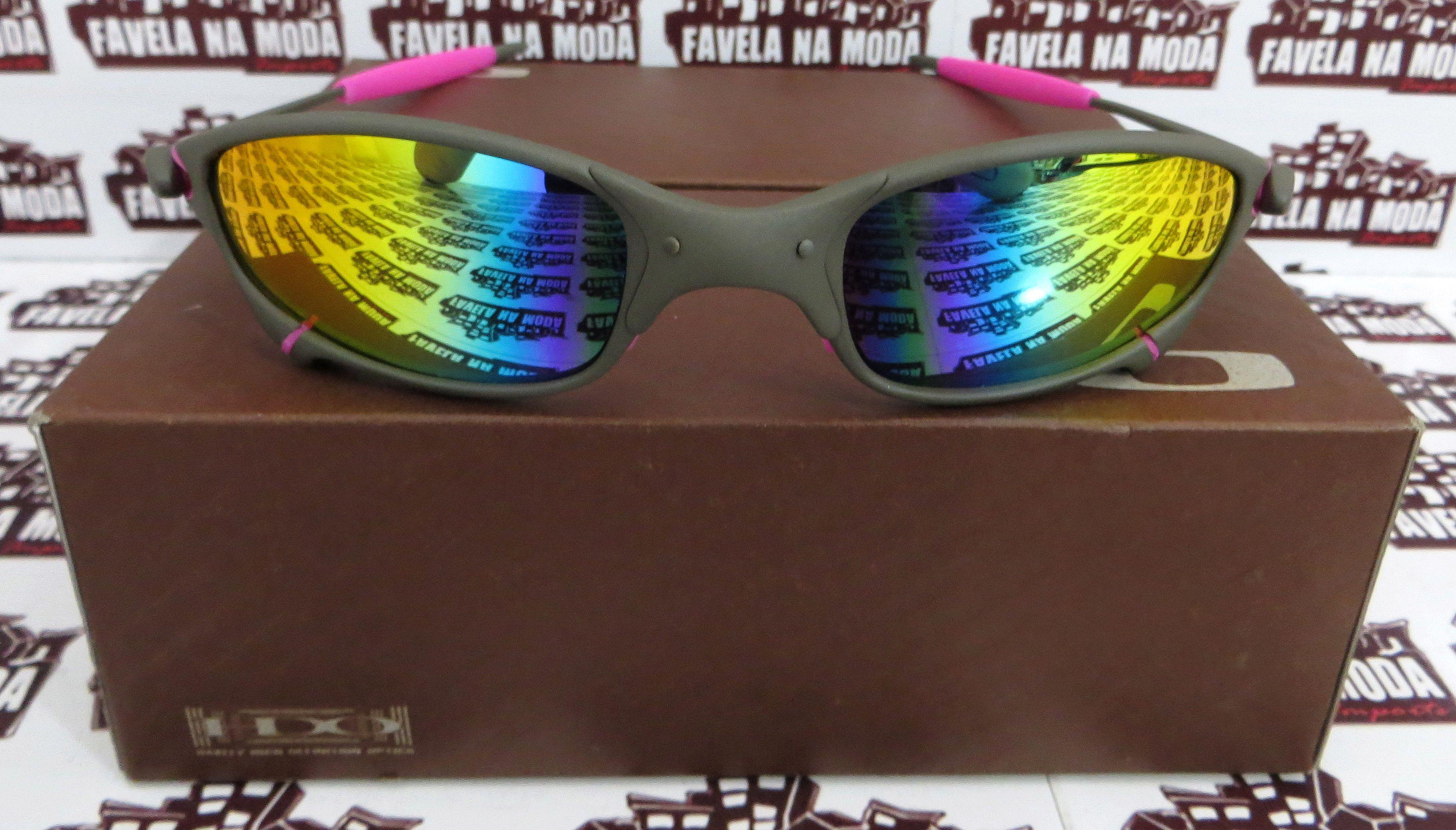 4ac3717d05a74 Óculos Oakley Juliet - X-Metal   Arco Íris   Borrachas Rosas