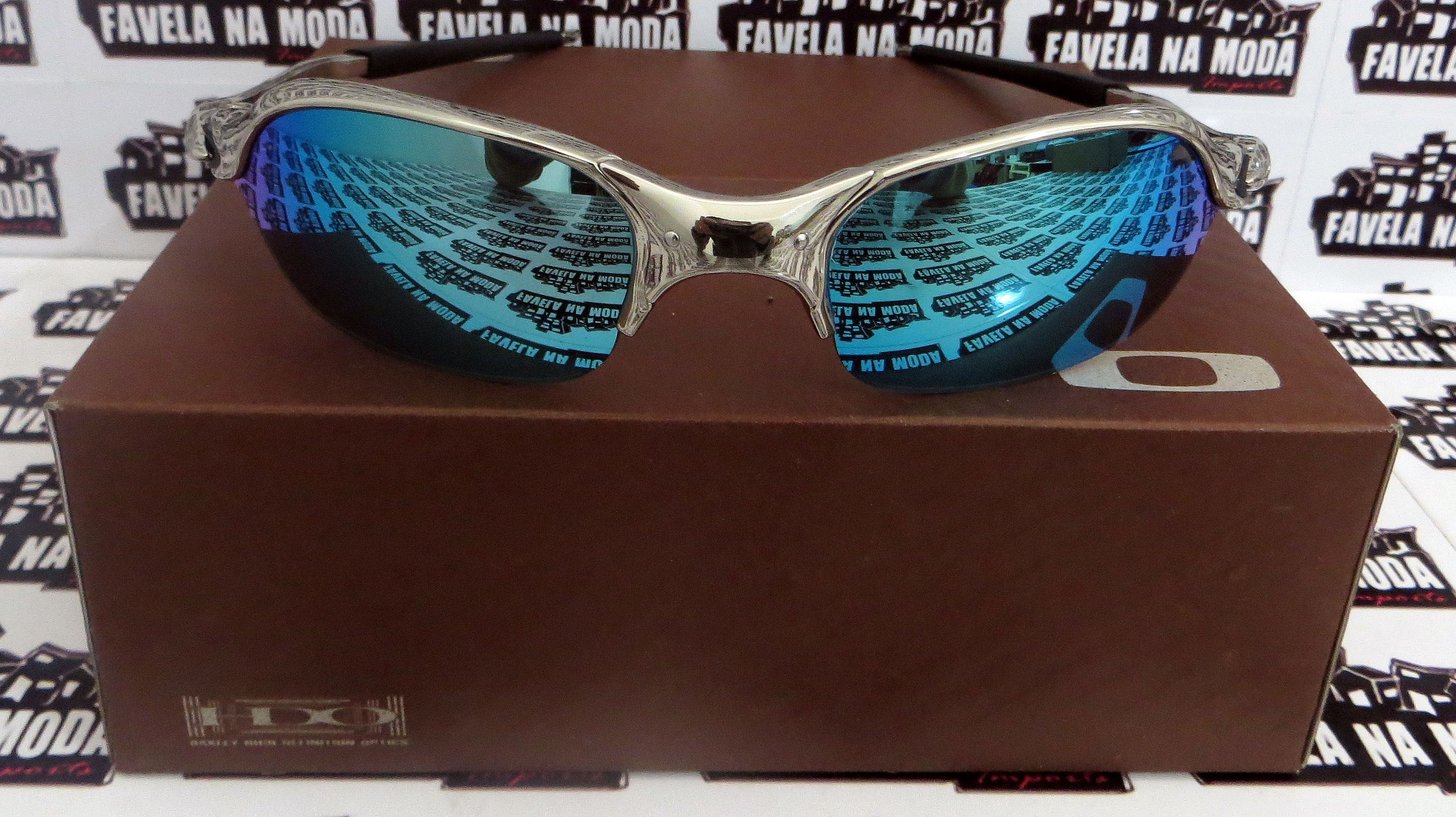 fe50ff6580f47 Óculos Oakley Romeo 2 - Polished   Ice Thug   Borrachas Pretas