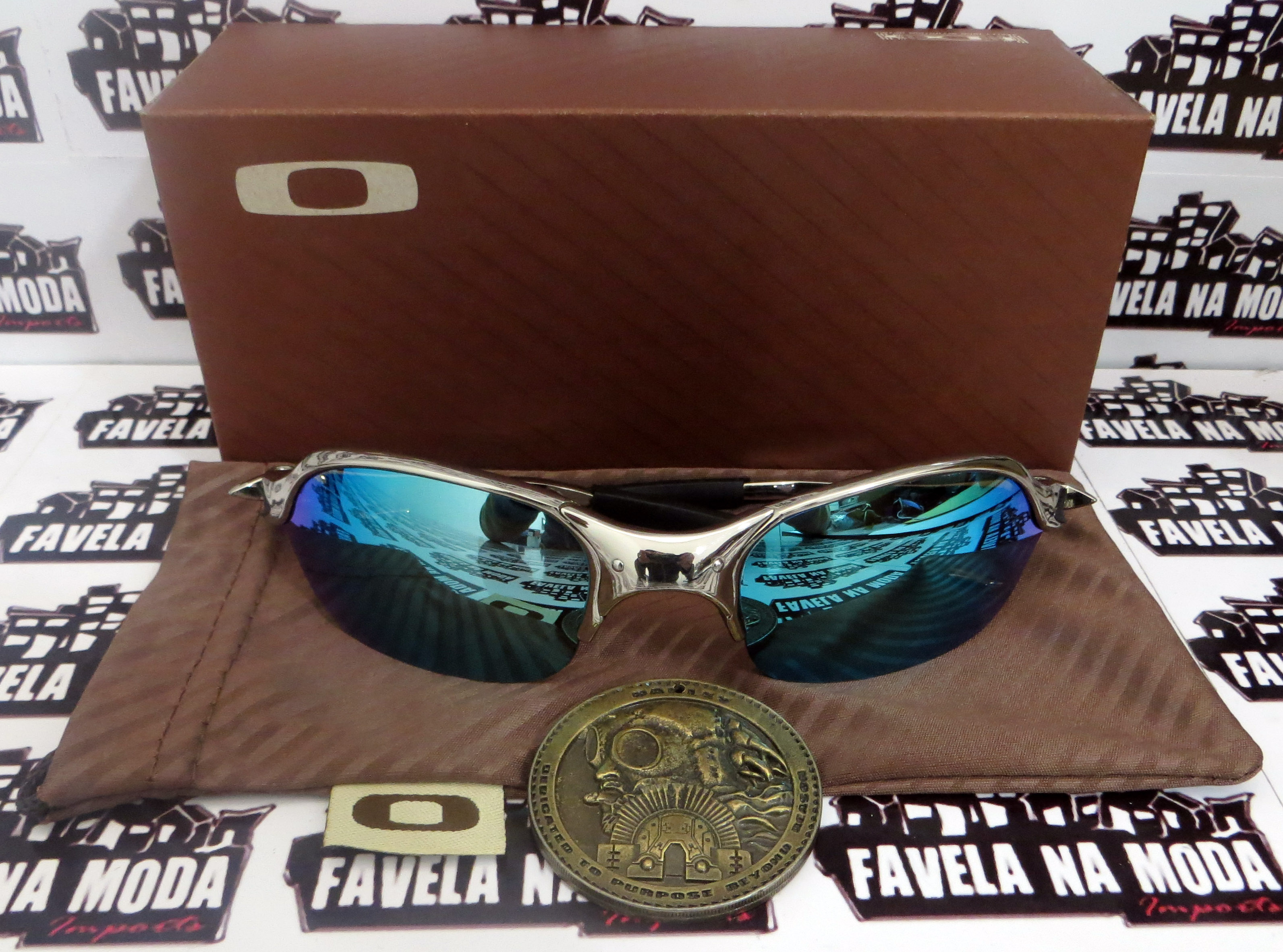 0ef84ab969056 Óculos Oakley Romeo 2 - Polished   Ice Thug   Borrachas Pretas ...