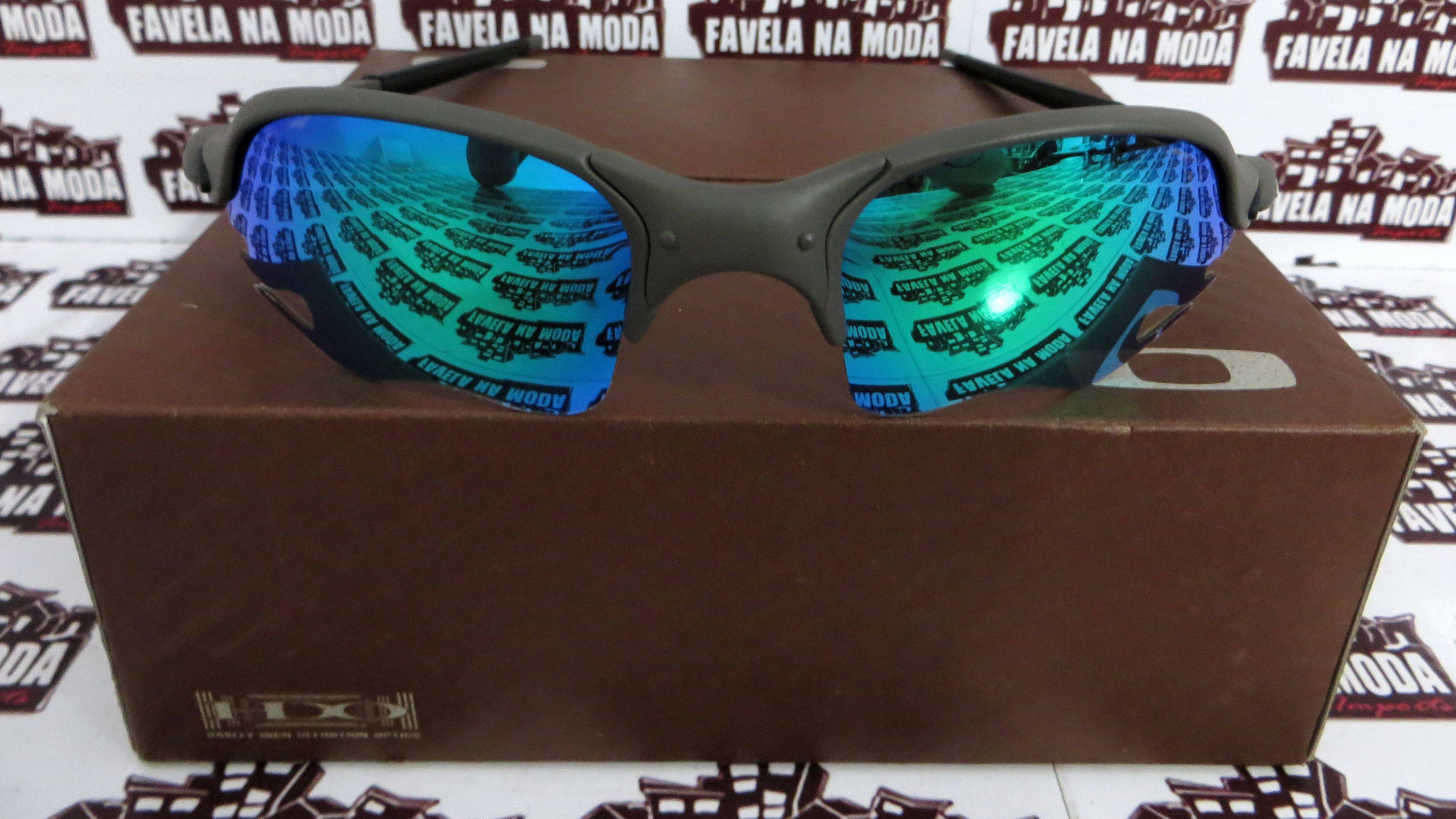 5b0f0543ad6e1 Óculos Oakley Romeo 2 - X-Metal   Green Jade (flame)   Borrac Pret