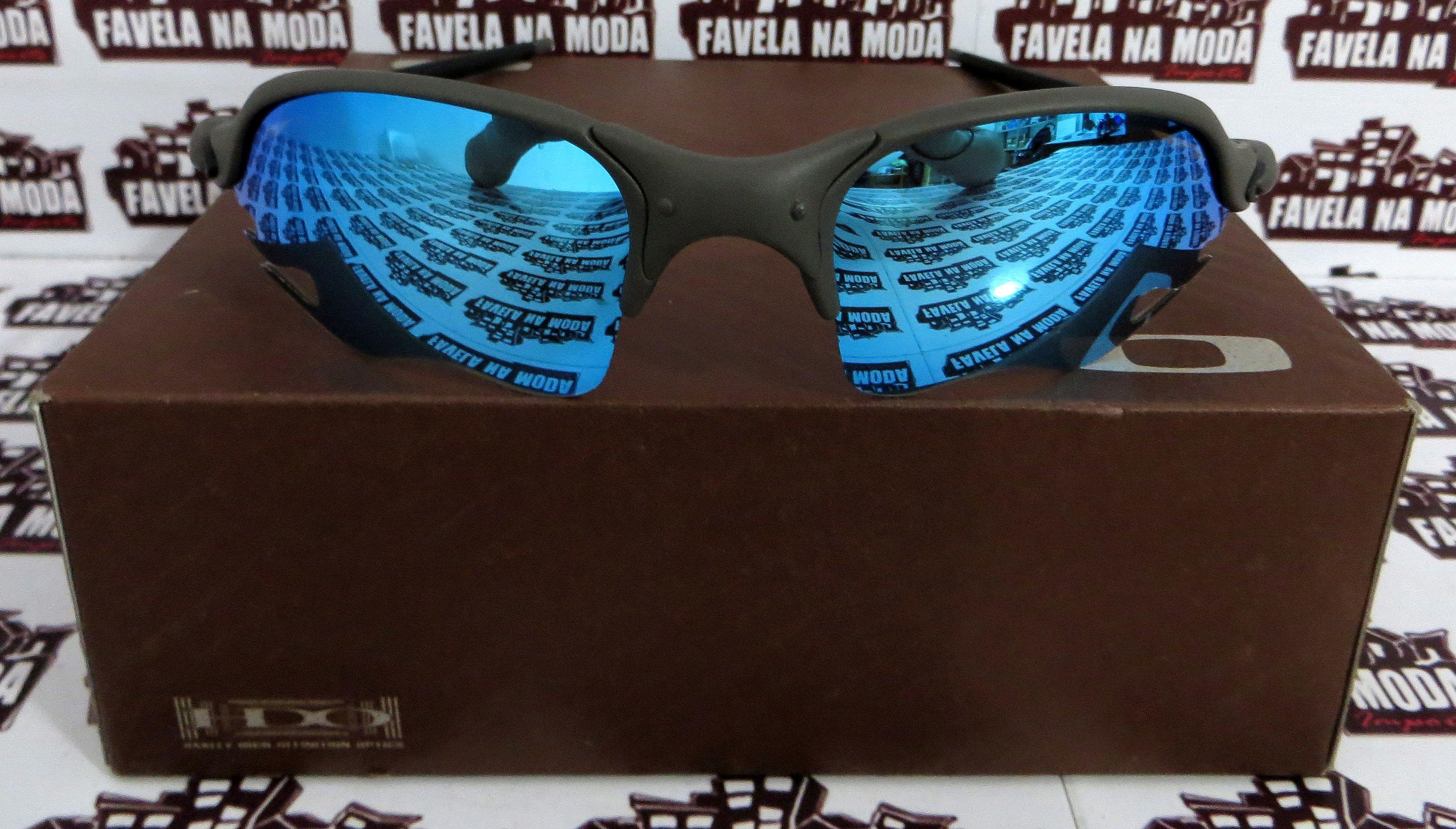 f4118ec2bb6a0 Óculos Oakley Romeo 2 - X-Metal   Ice Thug (flame)   Borrachas Pretas