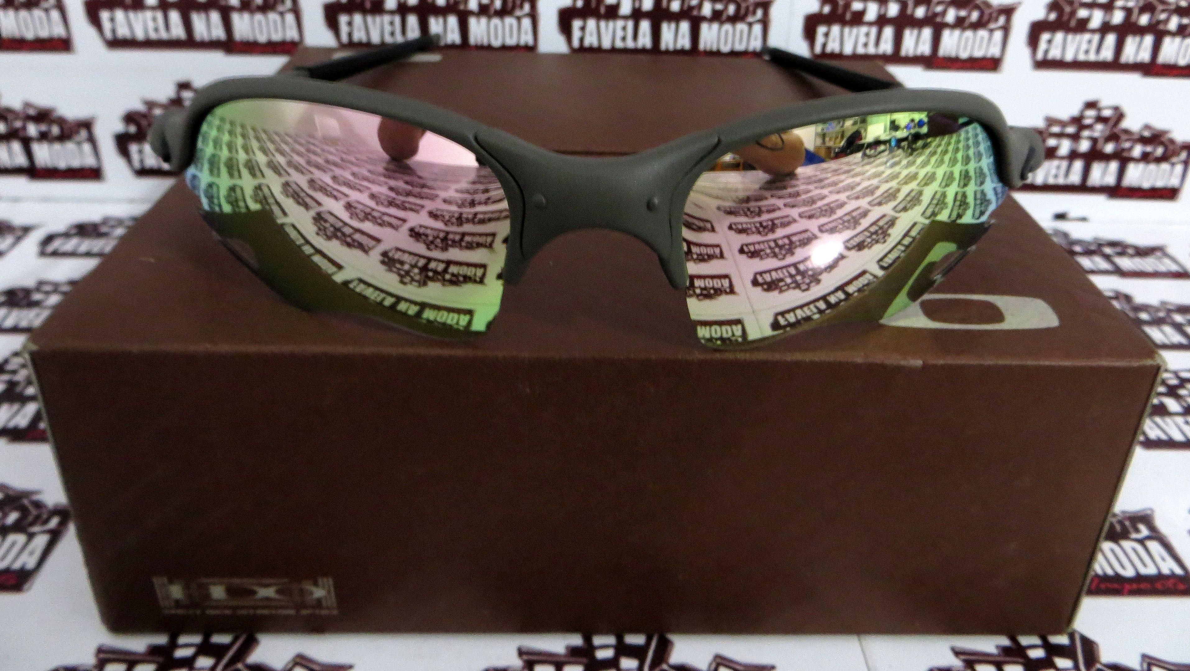 f4c93a226478c Óculos Oakley Romeo 2 - X-Metal   Pink (flame)   Borrachas Pretas