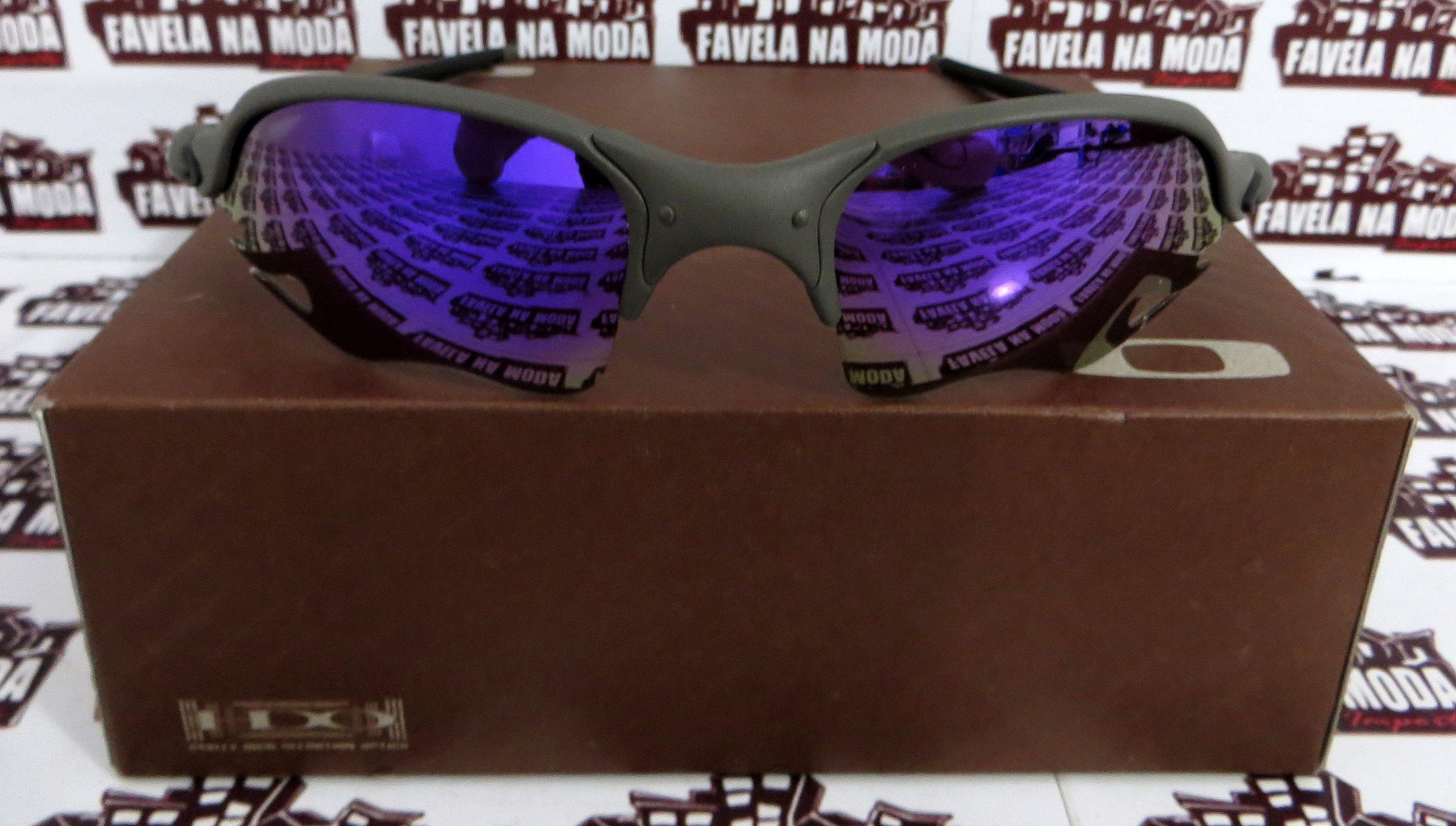 2602c67d50413 Óculos Oakley Romeo 2 - X-Metal   Violet (flame)   Borrachas Preta
