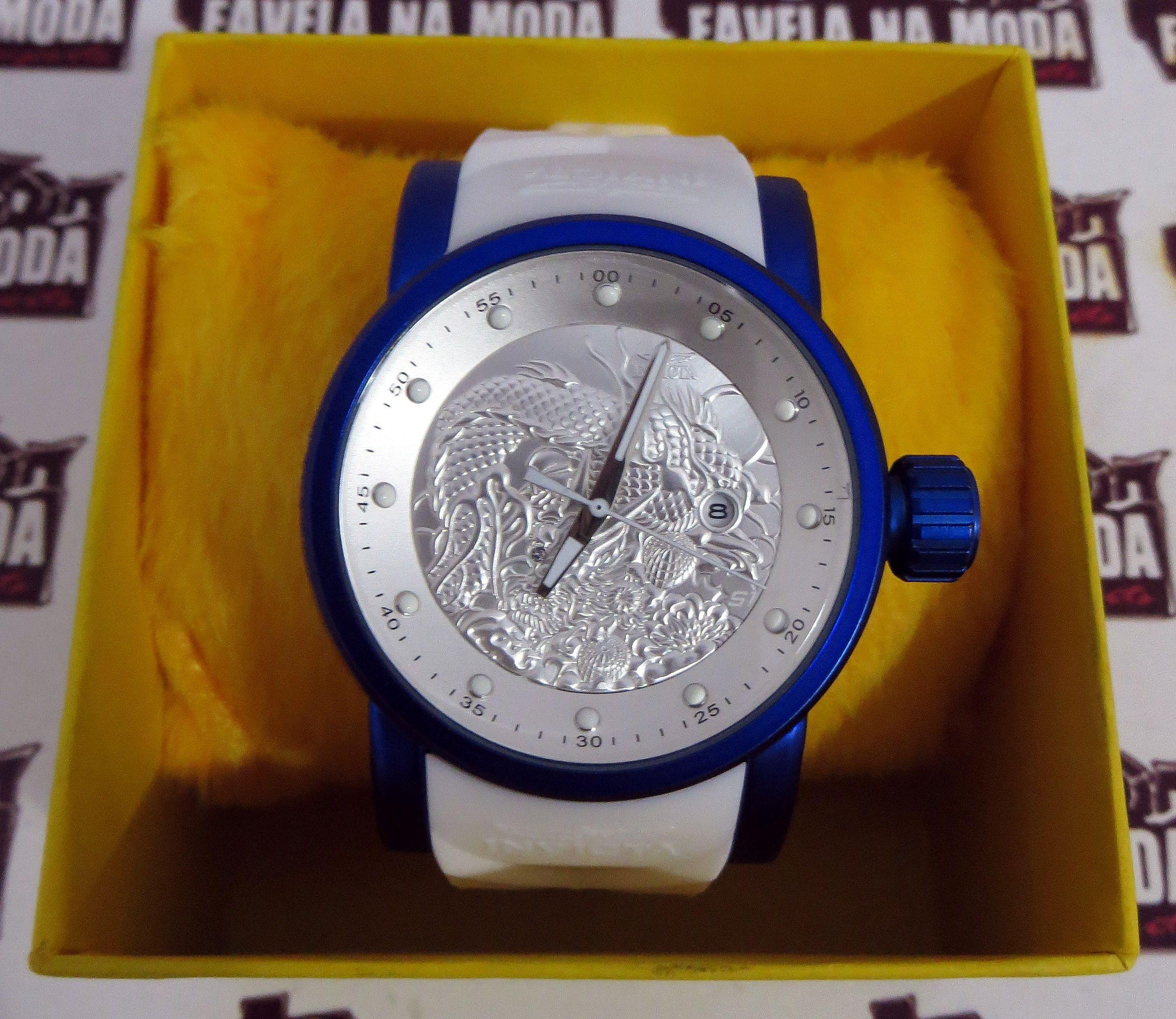 a50456fb239 Relógio Invicta Yakuza Dragon S1 - Branco   Azul