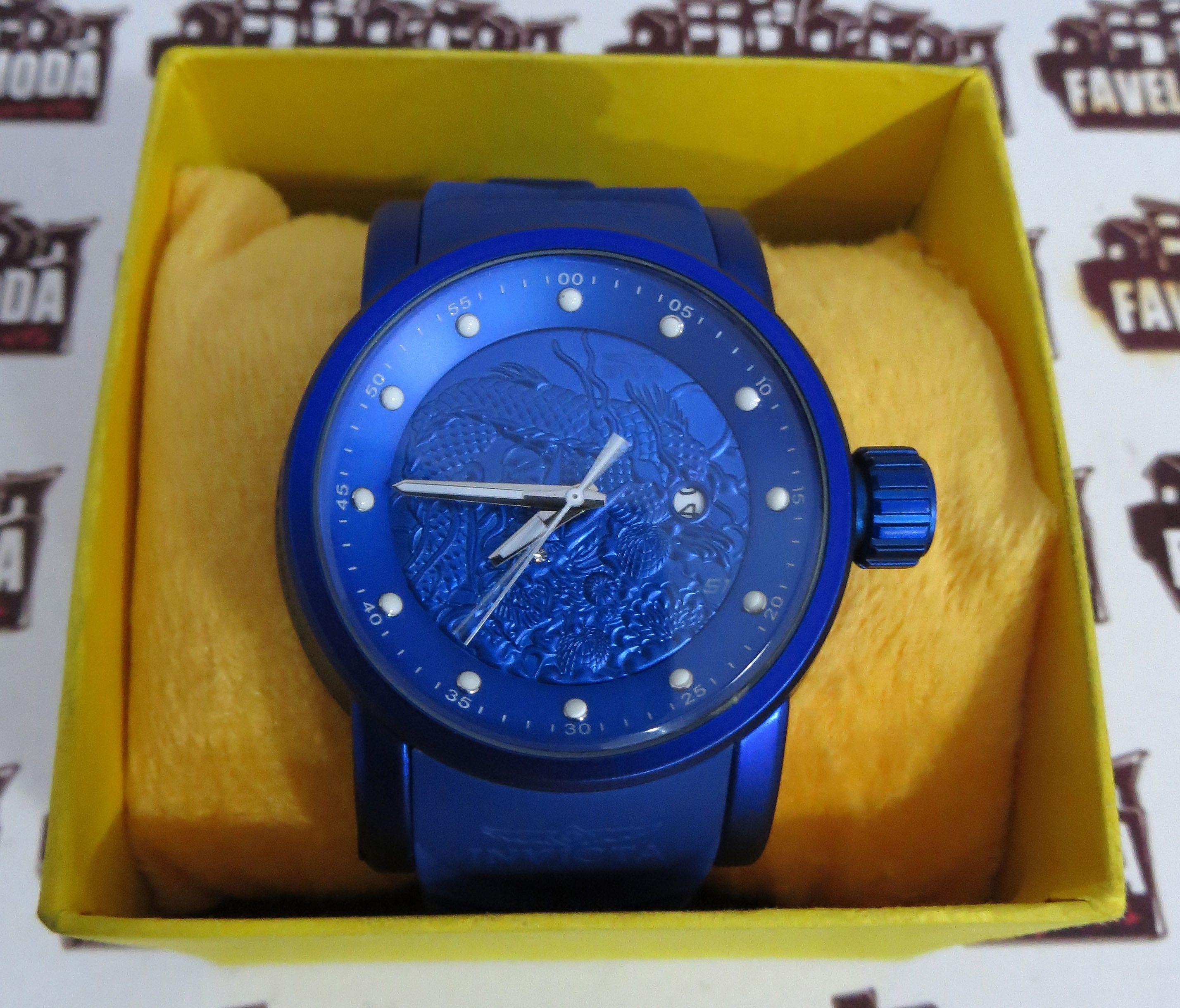 a8e36c7708a Relógio Invicta Yakuza Dragon S1 - Azul   Azul