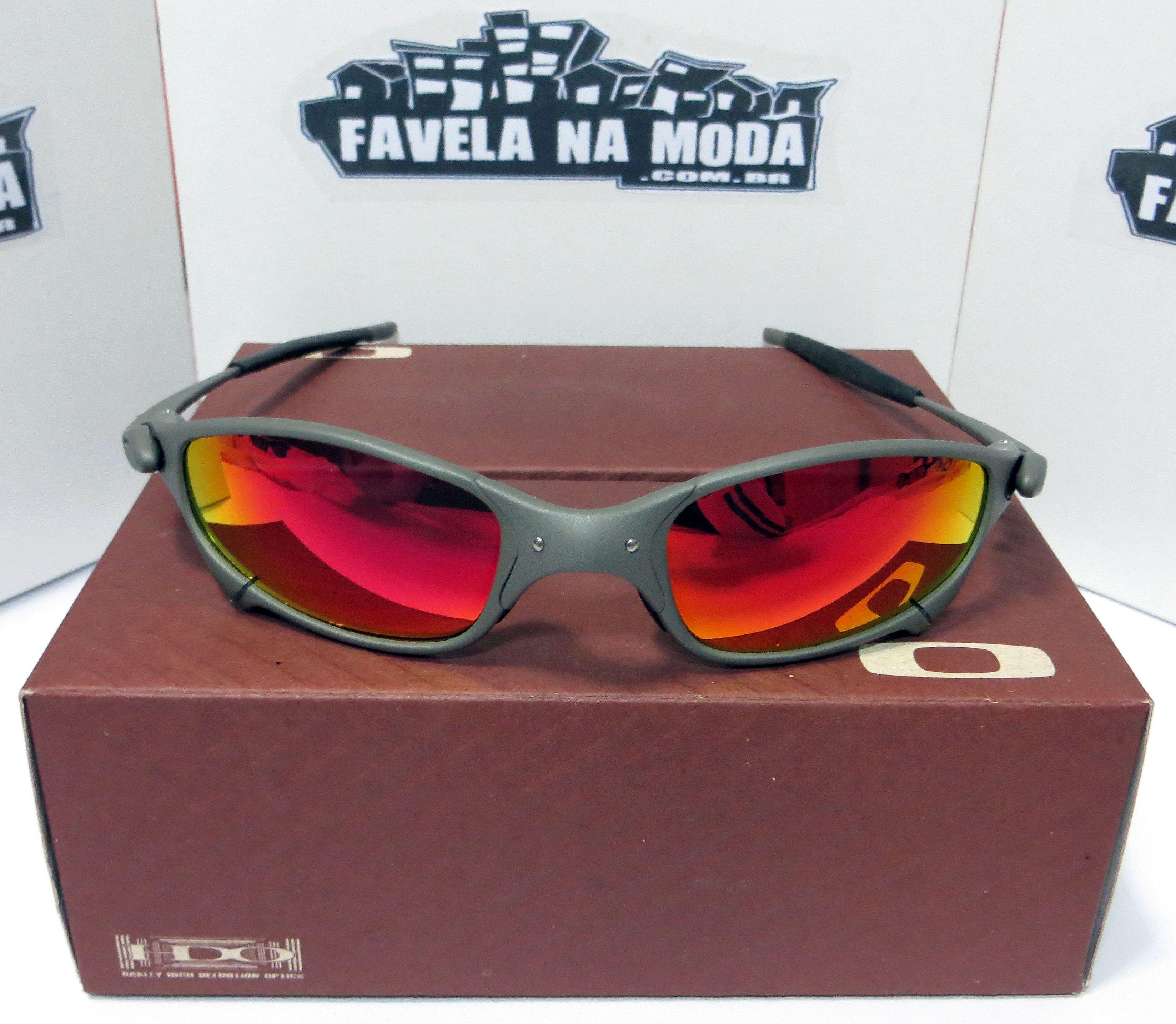 3d59044ac14ec Óculos Oakley Juliet - X-Metal   Dark Ruby   Borrachas Pretas