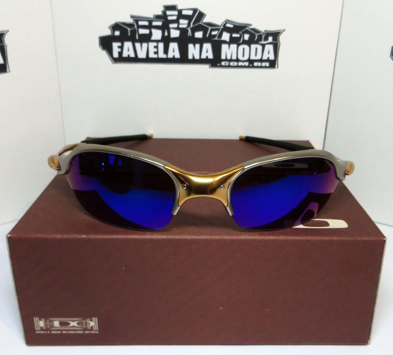 82858cf461551 Óculos Oakley Romeo 2 - 24k   Magic Blue   Borrachas Pretas