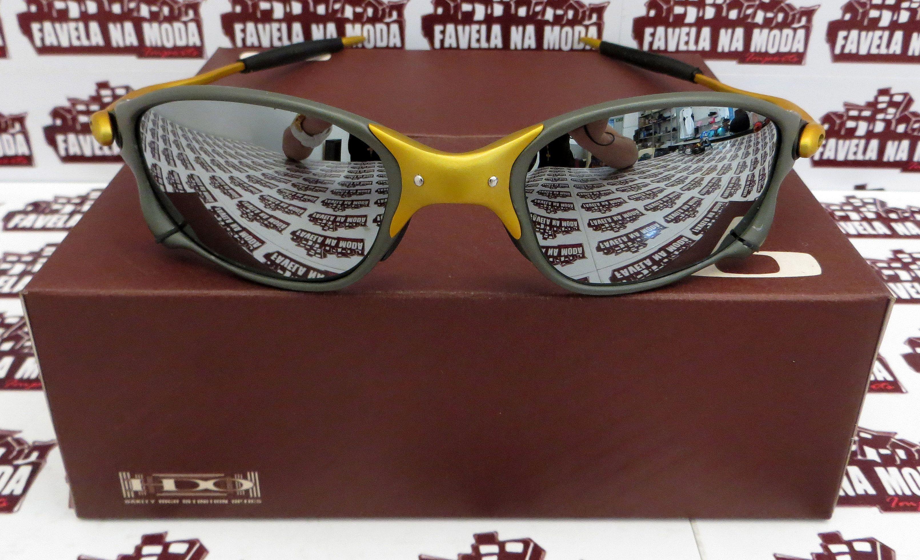 996a57b167fe7 Óculos Oakley Double xx - 24k   Liquid Metal   Borrachas Pretas