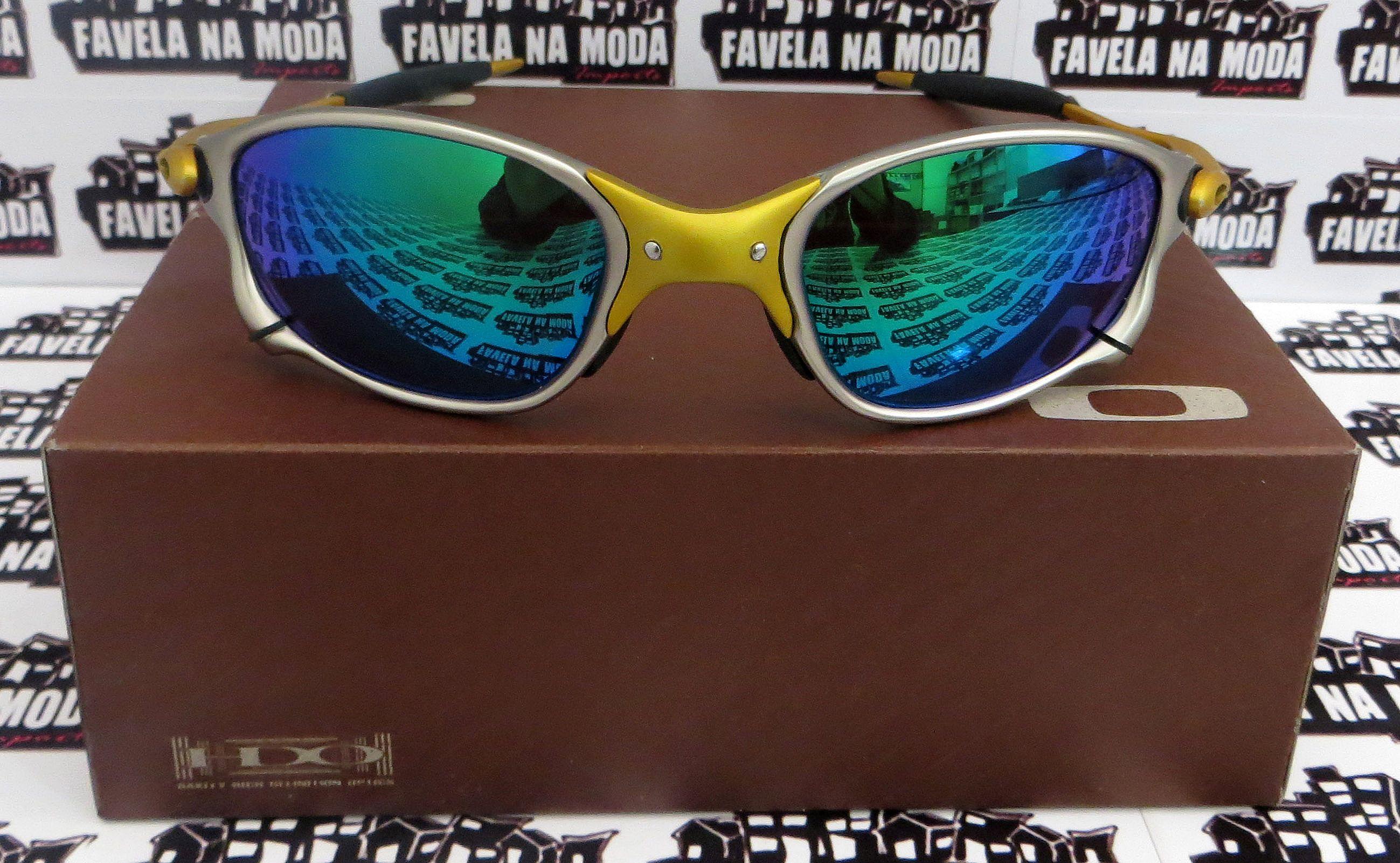 c9be8b93ebe8c Óculos Oakley Double xx - 24k   Green Jade   Borrachas Pretas