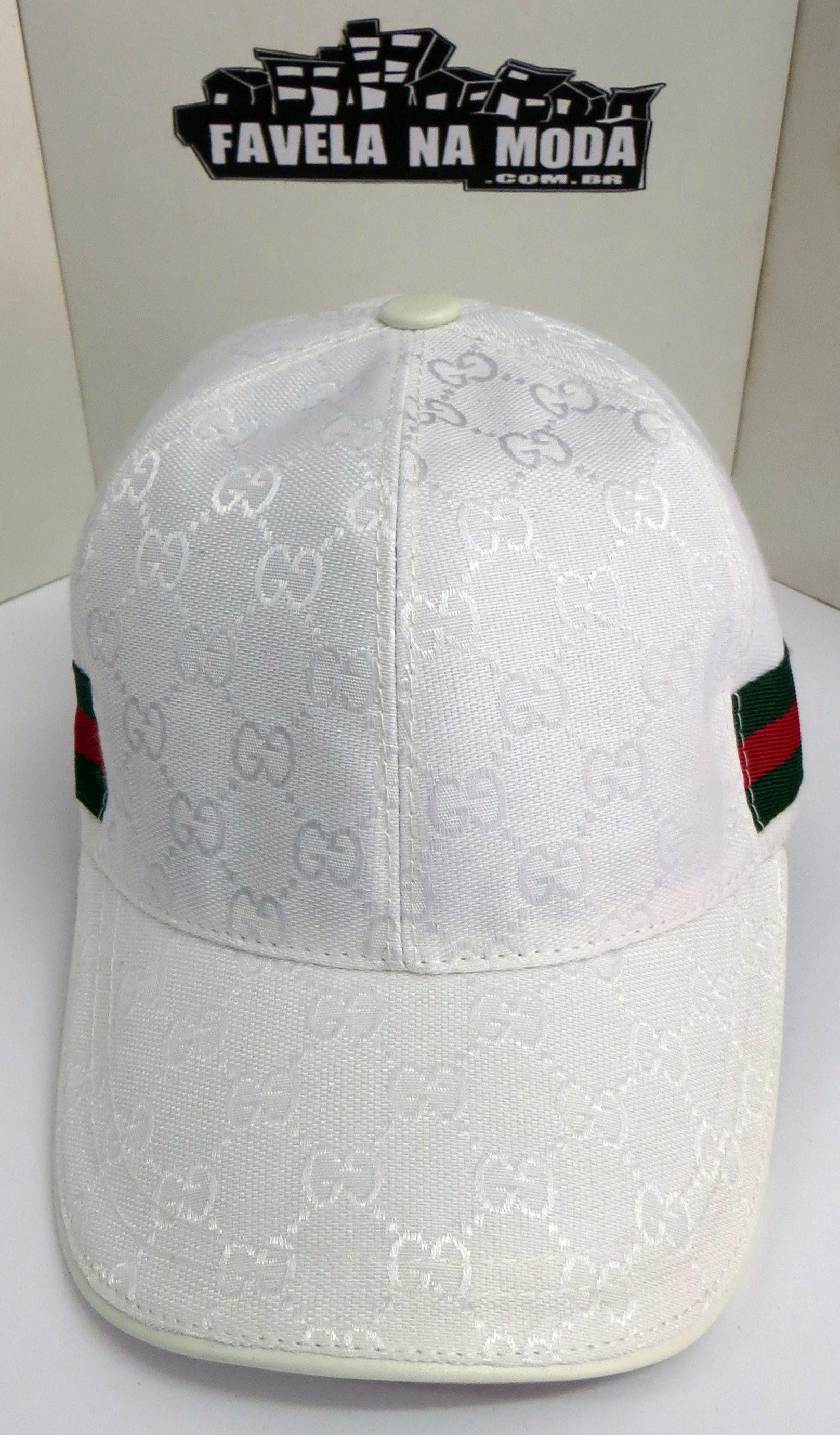 c6d9fd314d921 Boné Gucci Monogramado - Branco