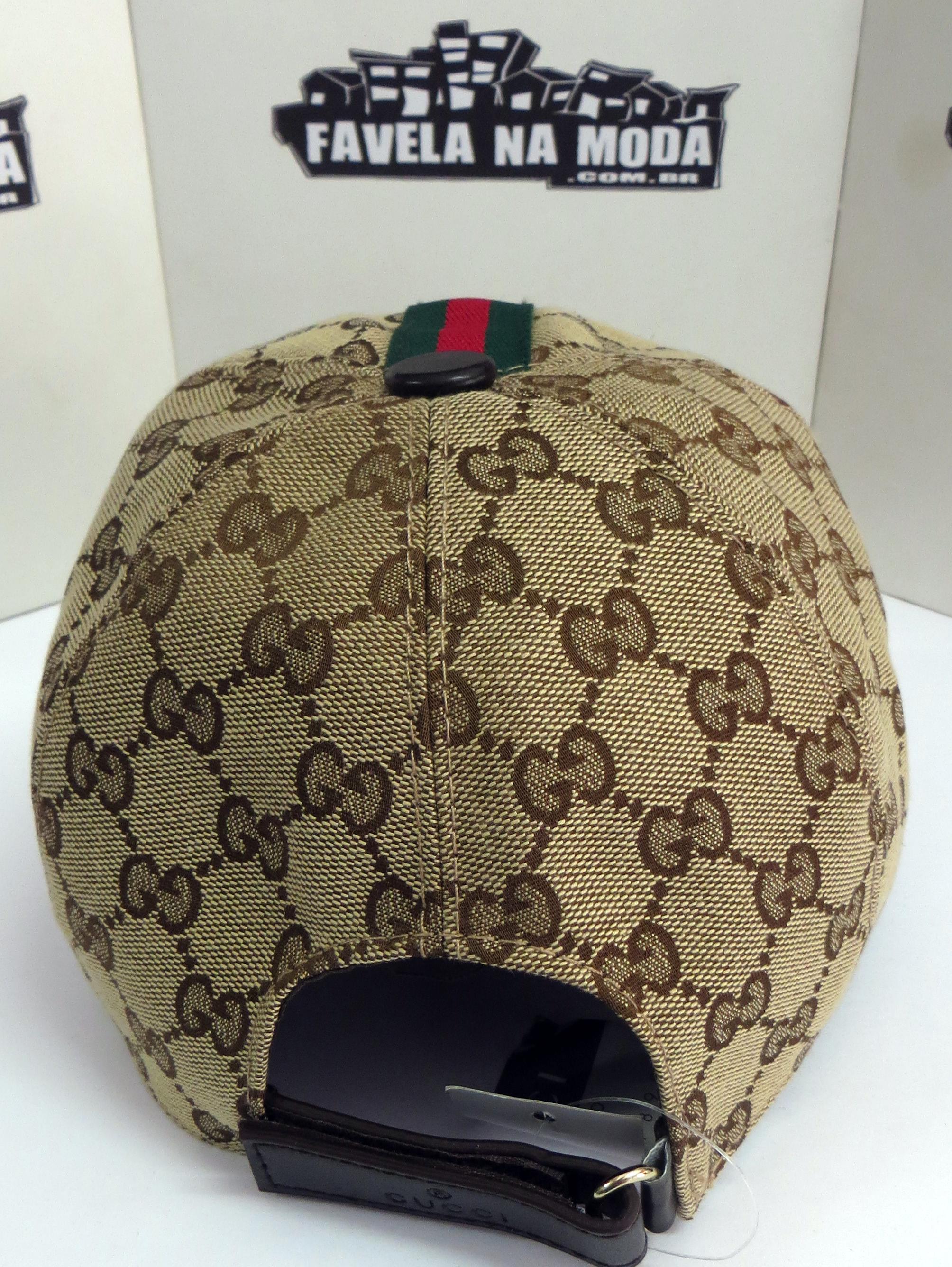 cf24ea59fd0e5 Boné Gucci Monogramado - Bege - Favela na Moda Imports