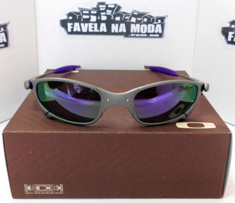528238f2a4acc Óculos Oakley Juliet - X-Metal   Violet   Borrachinhas Roxas