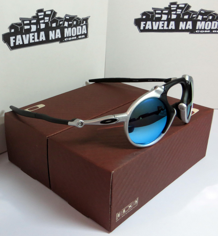 951671556 Óculos Oakley Madman - Plasma / Ice Thug - Favela na Moda Imports