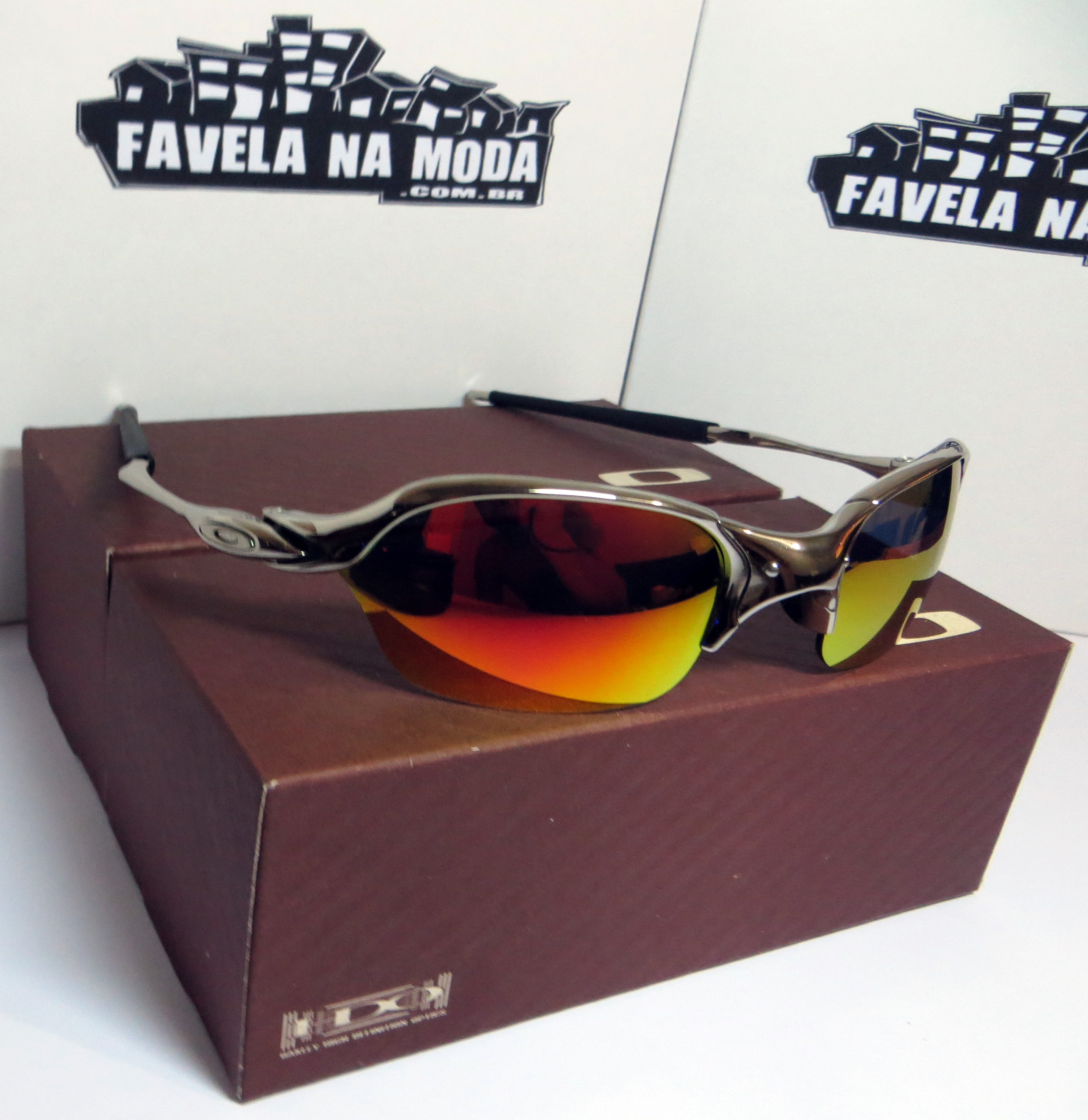 Óculos Oakley Romeo 2 - Polished   Dark Ruby   Borrachinhas Pretas - Favela  na Moda Imports 90067d8aac