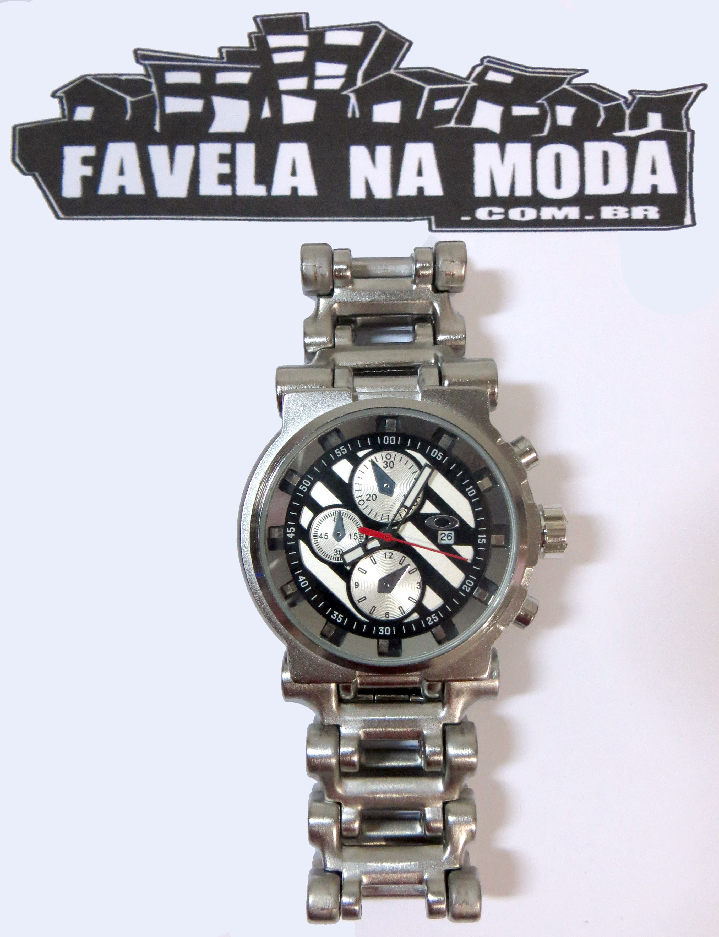 c8a2a75904e Relógio Estilo Hollow Point Oakley - Preto   Branco