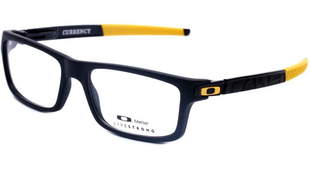 892c1d8b7e624 Óculos de Grau Oakley Currency - Preto   Amarelo