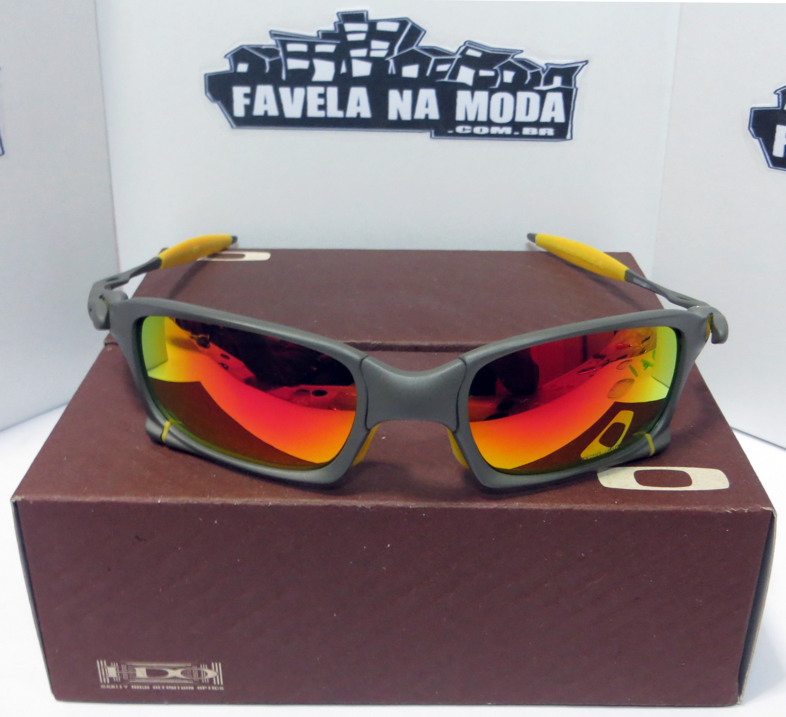 Óculos Oakley X-Squared   X-Metal   Dark Ruby   Borrachinhas Amarelas 4a8454ae25