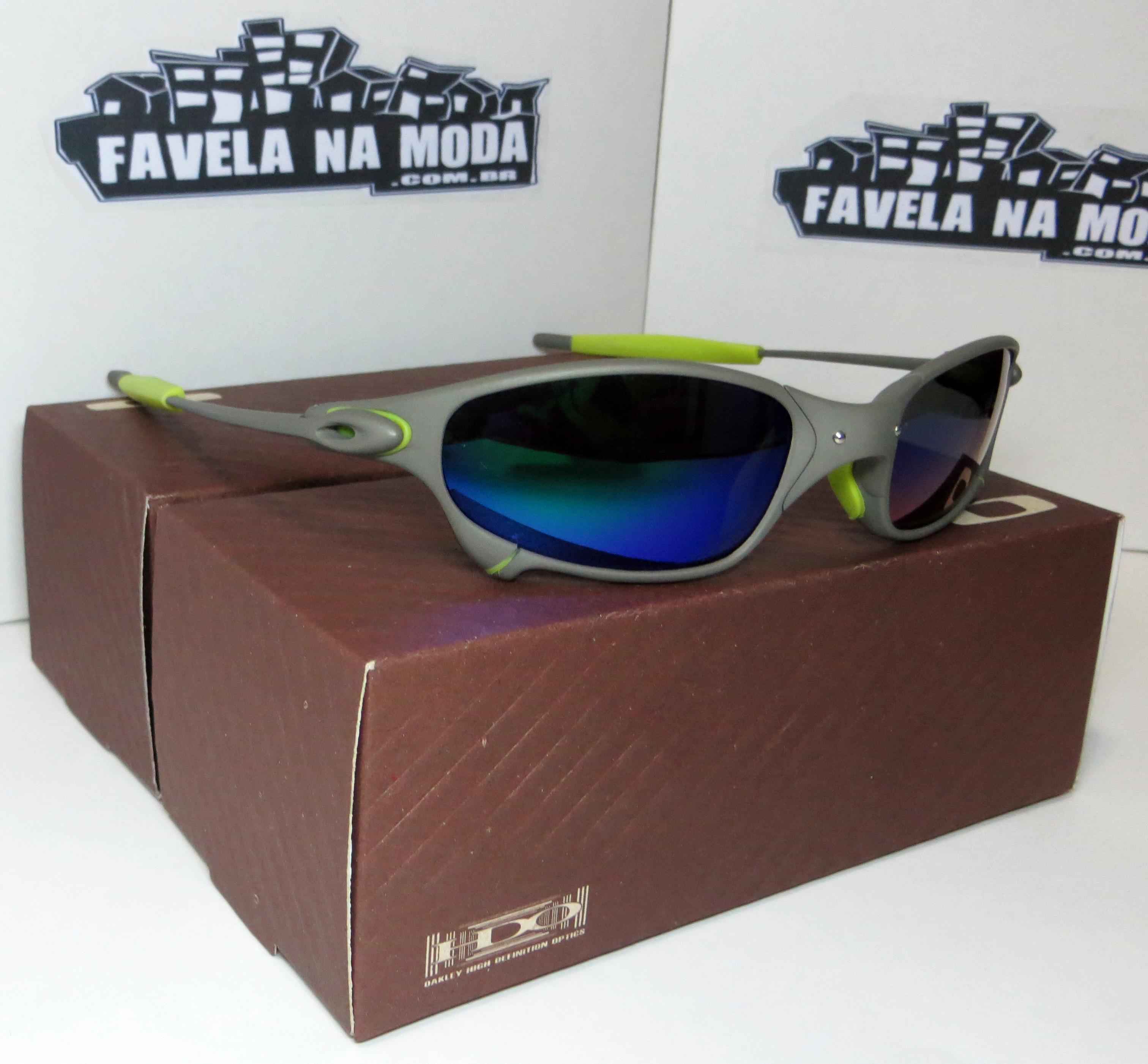 Óculos Oakley Juliet - X-Metal   Blue-Green   Borrachinhas Verde ... e1613da8b2