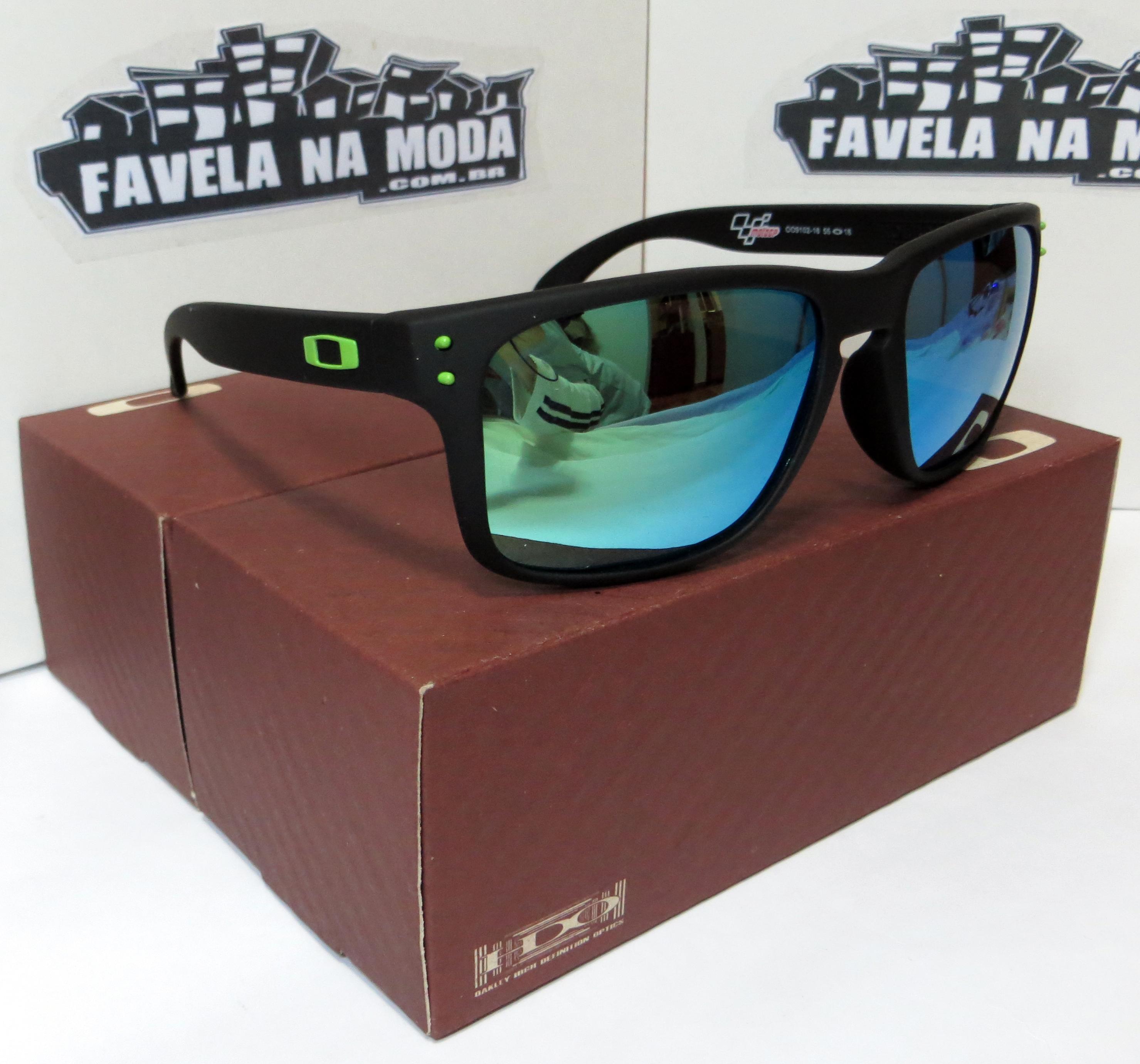 d8c158973 óculos Oakley Holbrook Lente Verde. Óculos Oakley Holbrook (Moto GP) Armação  Preto Fosco ...